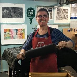 Karen Beckwith  Master lithographing.
