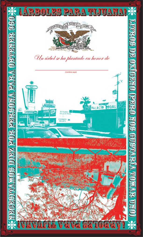 Tijuana Tree Certificate (or Keep your promises PEMEX).  Digital proof, edition was never made… long story.