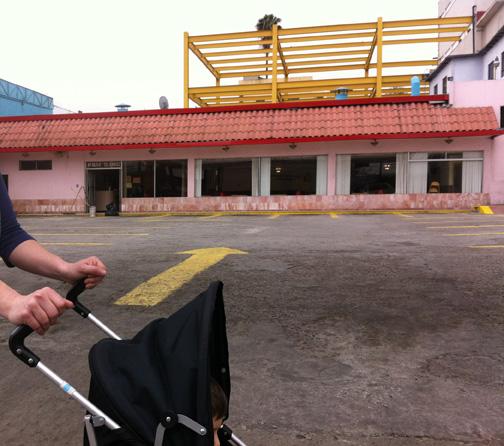 Strolling along Avenida Agua Caliente, Tijuana.