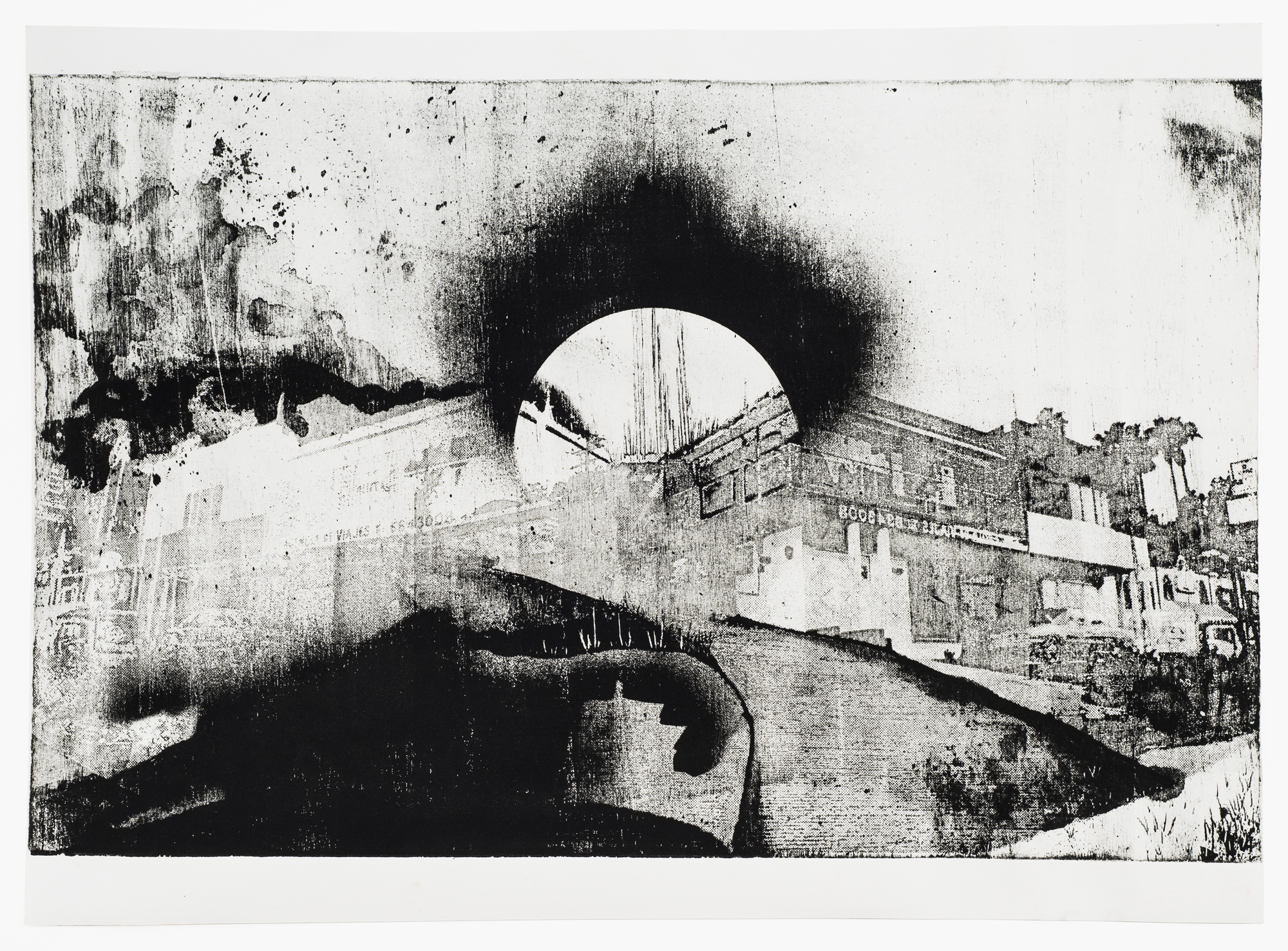 East Tijuana, Driveway,  2016 Wood Lithography, 22 in W x 16 in H  Photo: Jerry Birchfield, Field Studio Photography