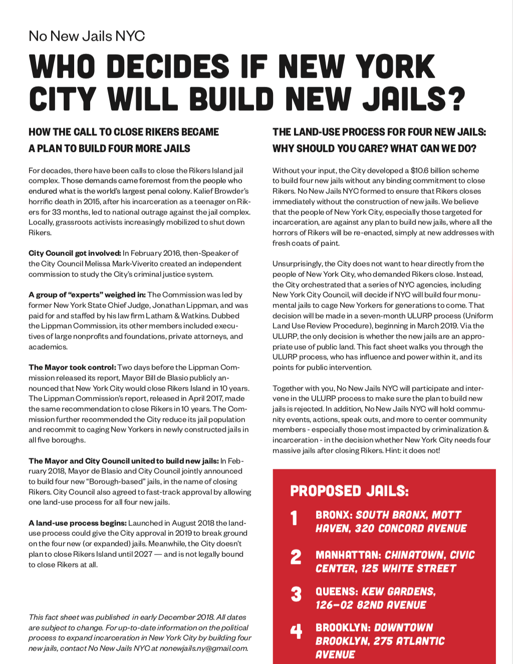 Who Decides if New York City Will Build New Jails?