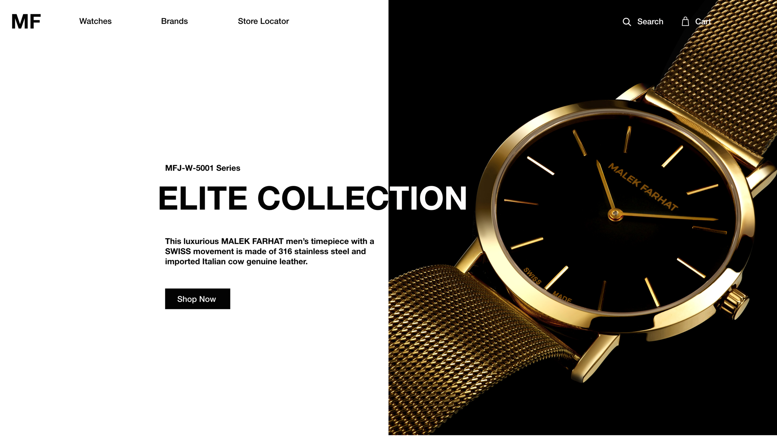 Product Webpage Design for Luxury Watch