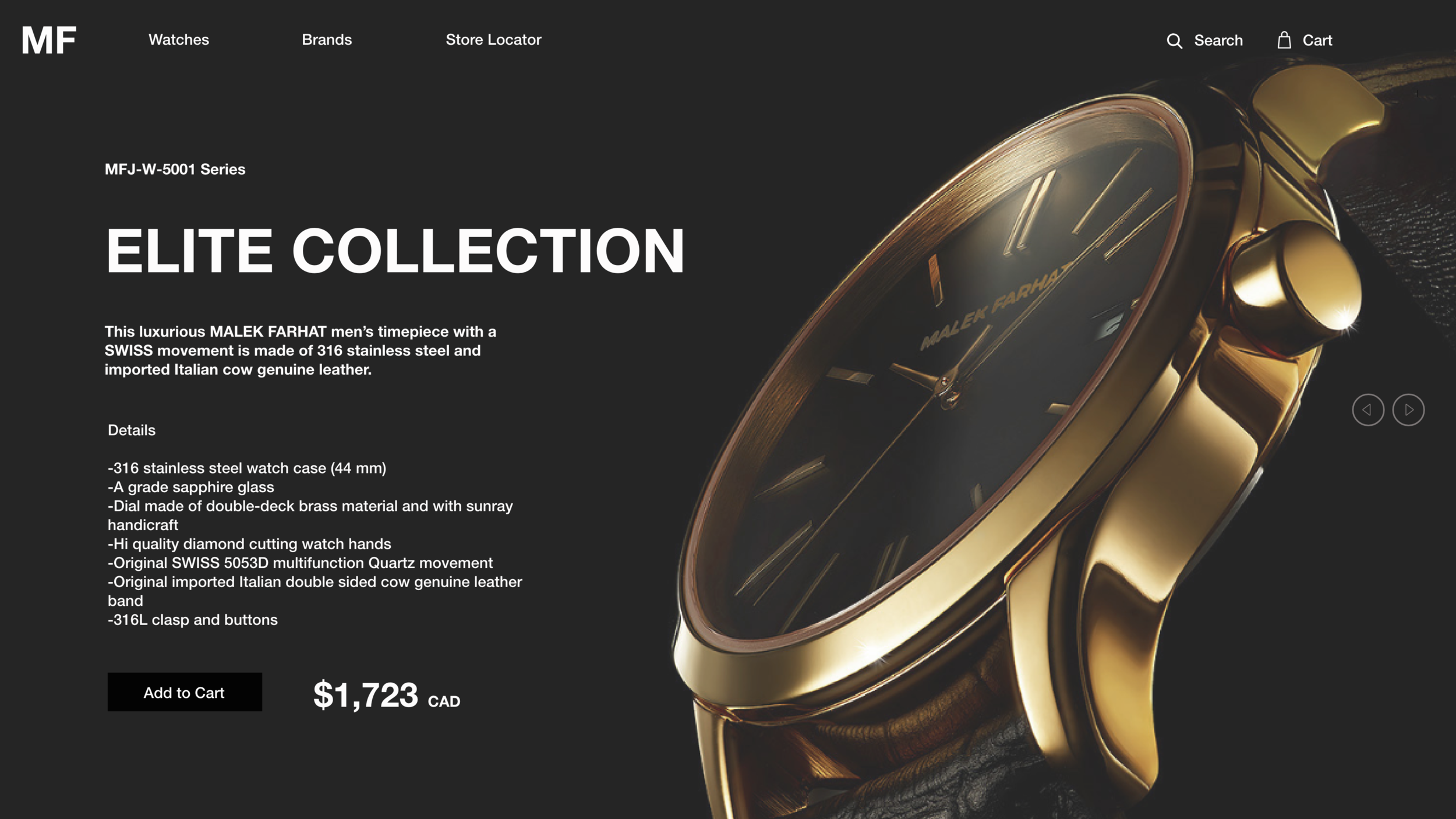 Product Webpage Design for Luxury Watch 3