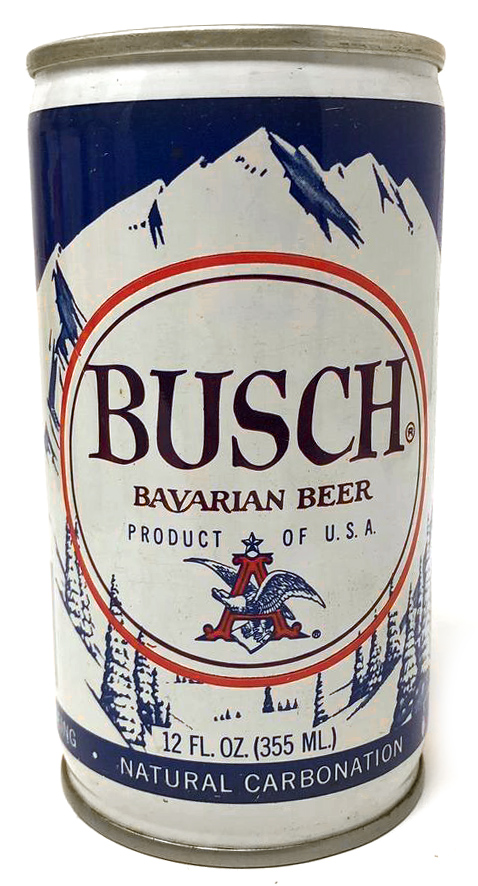 LEFT:  Recreation  RIGHT:  Authentic Vintage Busch Can