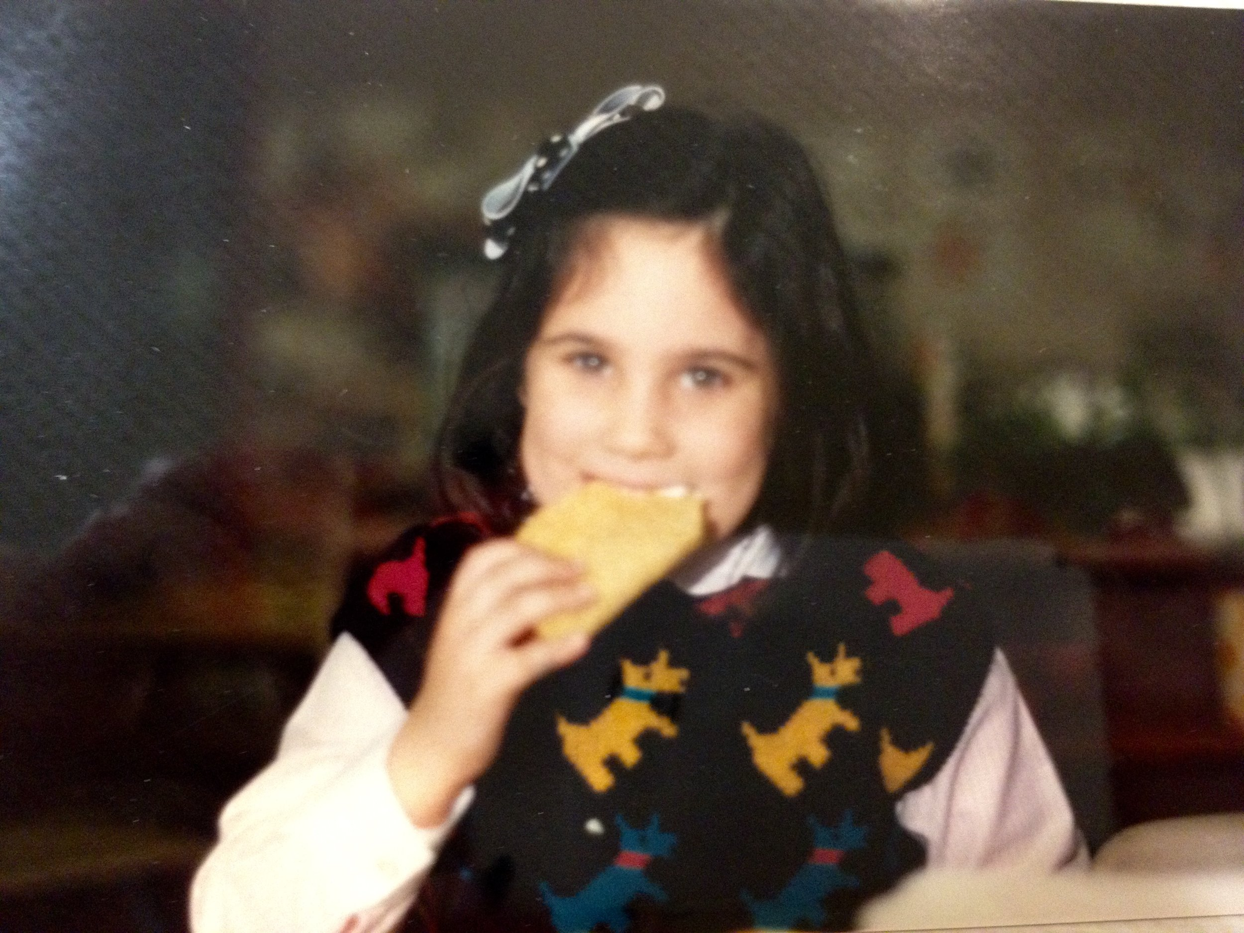 Max's sister Gabriel loving Tacos from an early age