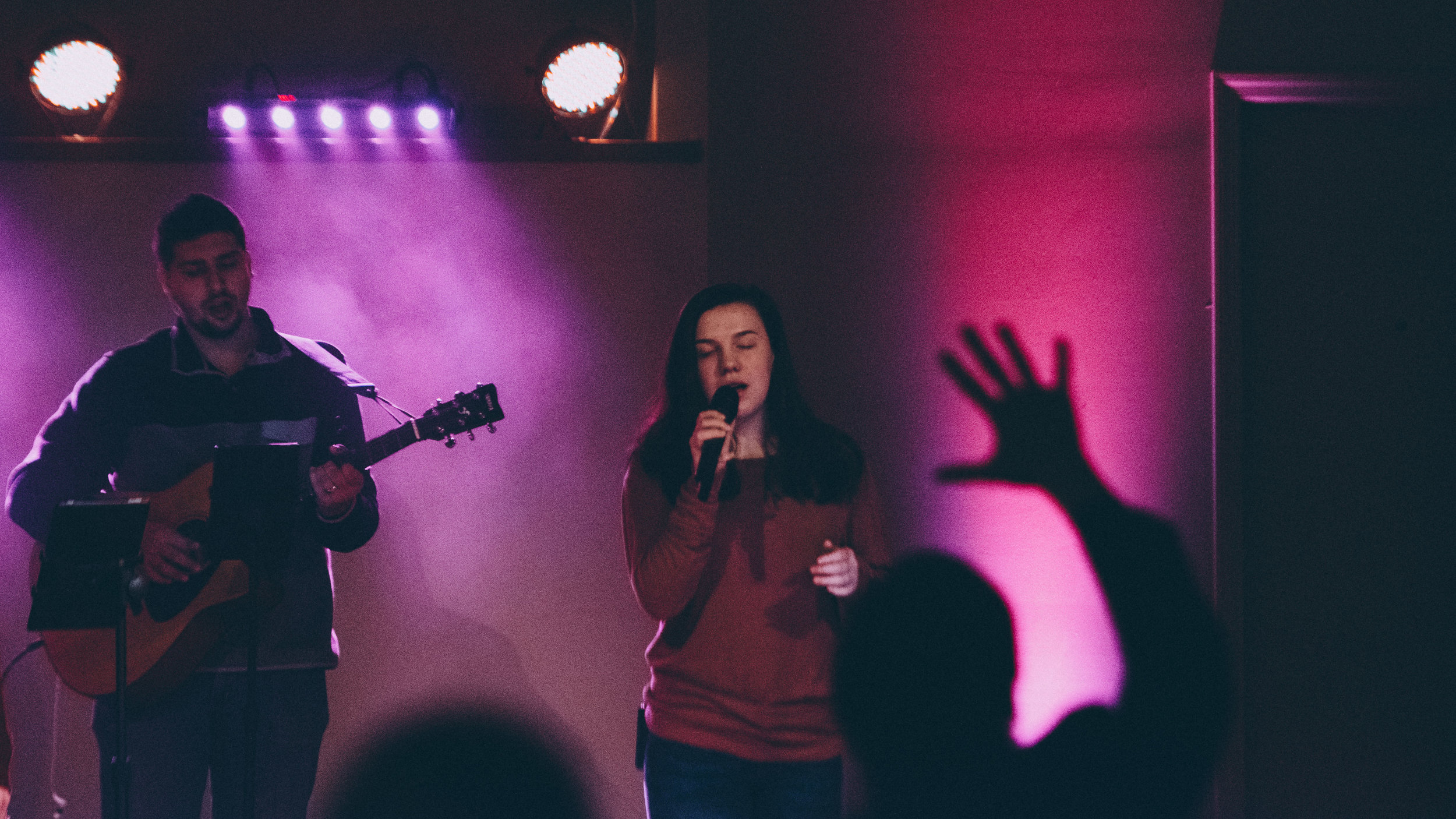 Worship Service - Sundays @ 11:00amWe meet weekly for worship (modern music led by our worship team) and teaching (a message given by a pastor or guest speaker).