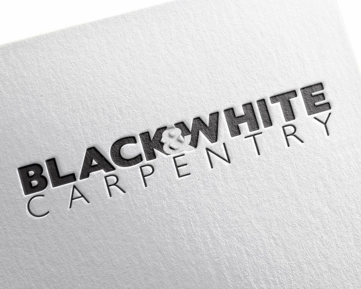 Black & White Carpentry logo and branding