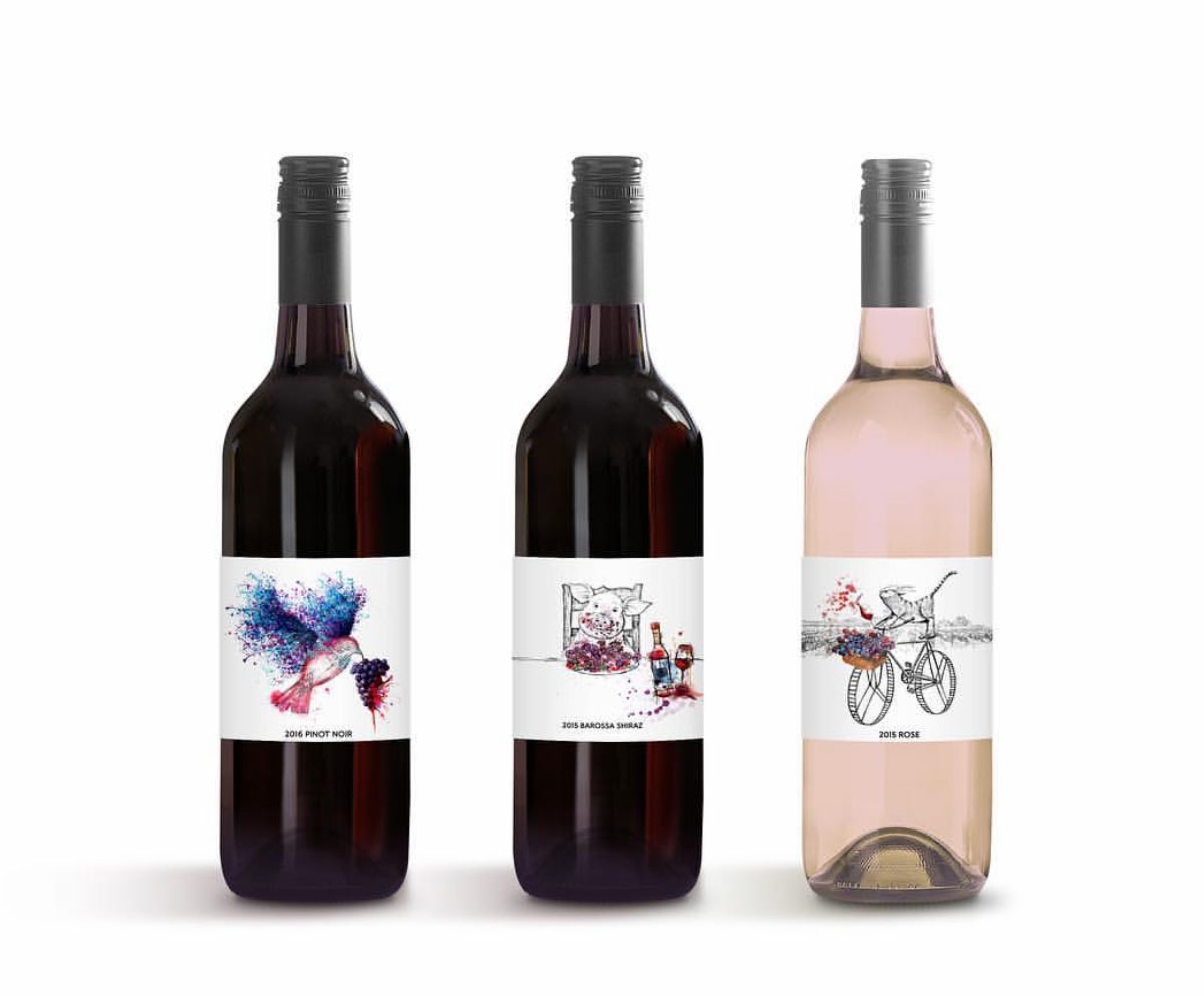Wine label series designed for CNV Liquor Distributors