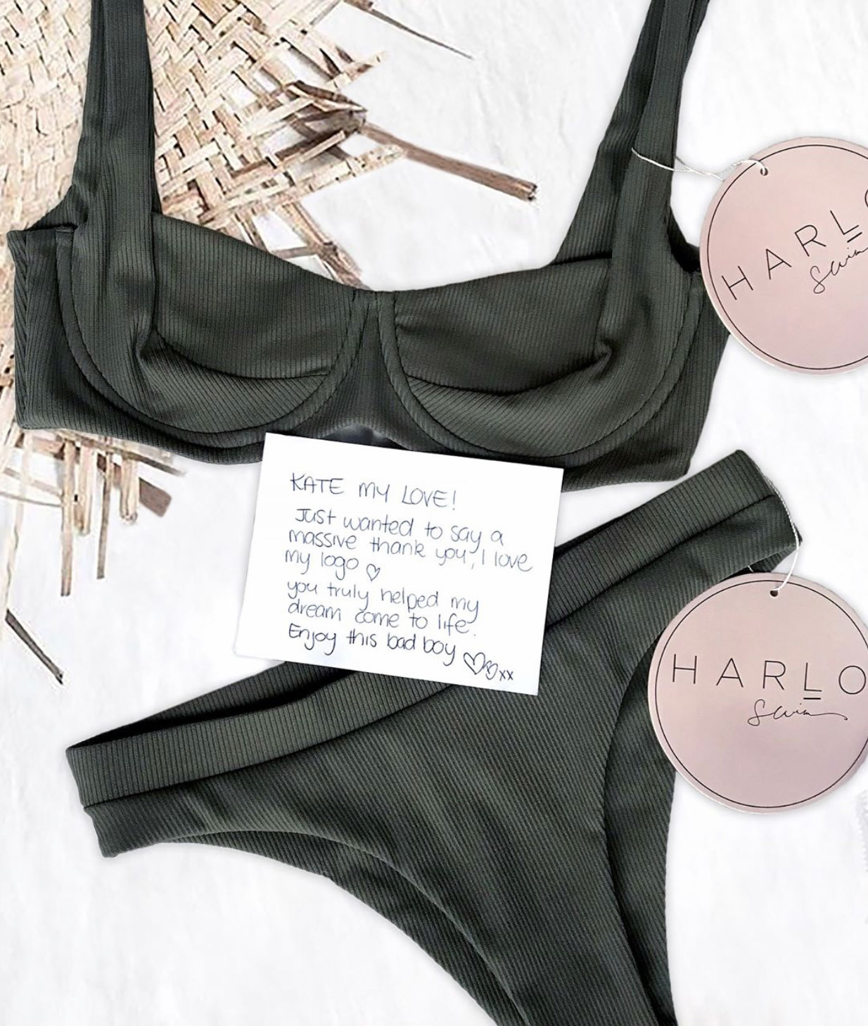 Harlo Swim Logo and Branding