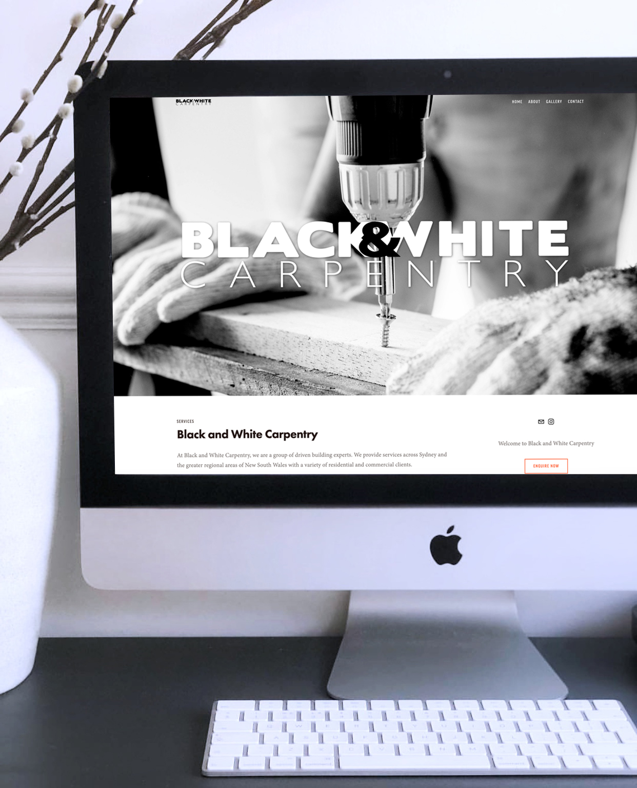Website design for Black and White Carpentry