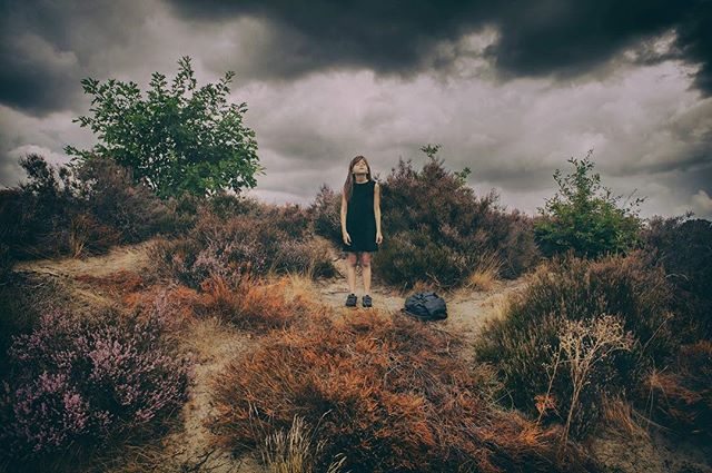 Without the baggage I can breathe... • • Model: Reesa Location: soesterduinen (the Netherlands) #fineartphotography #nature #canon #conceptual #photography #kids #emotionalbaggage #photography #breathe