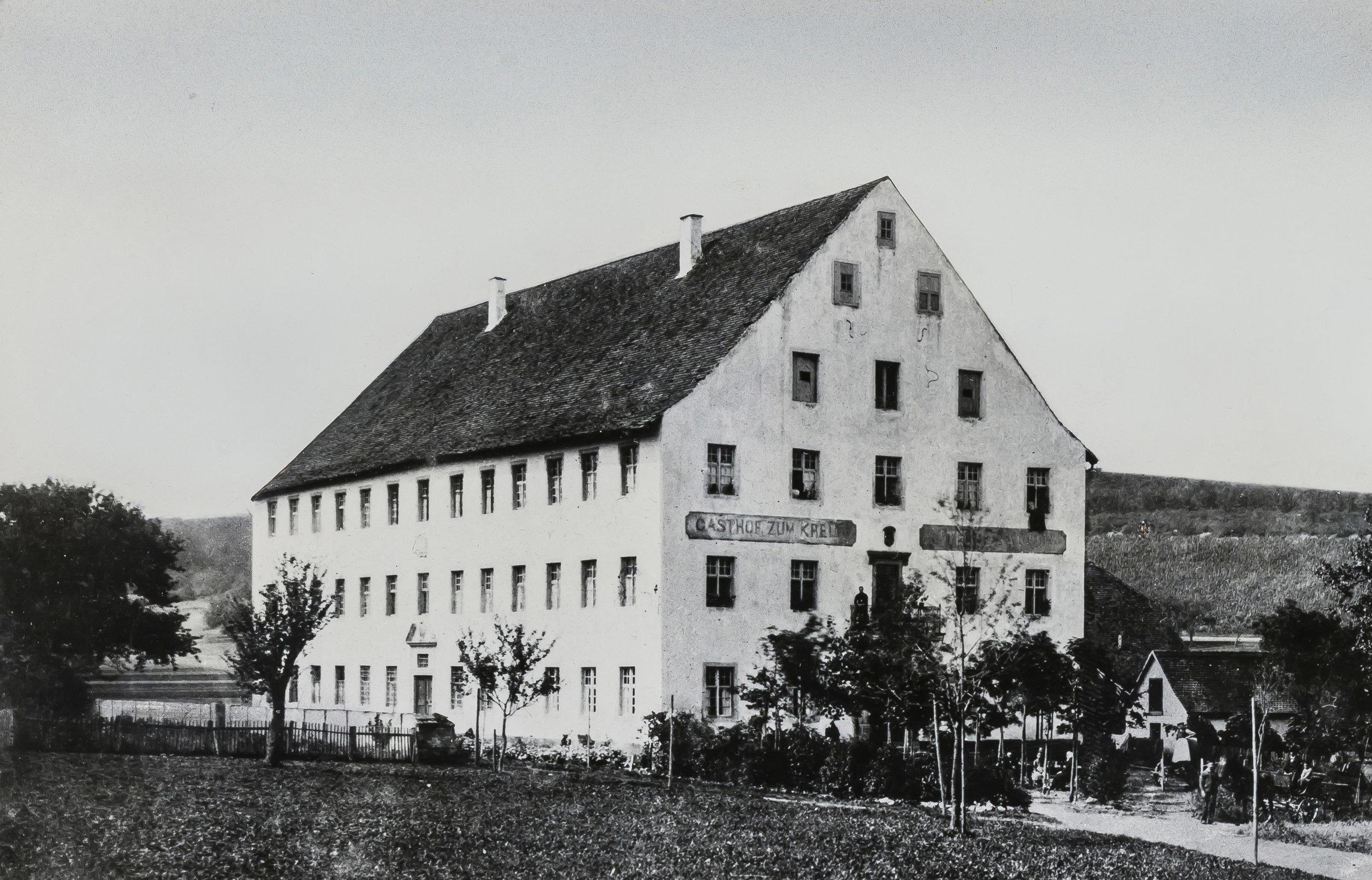 Das ehemalige Pilgerwirtshaus auf einer Fotografie aus dem Jahr 1900