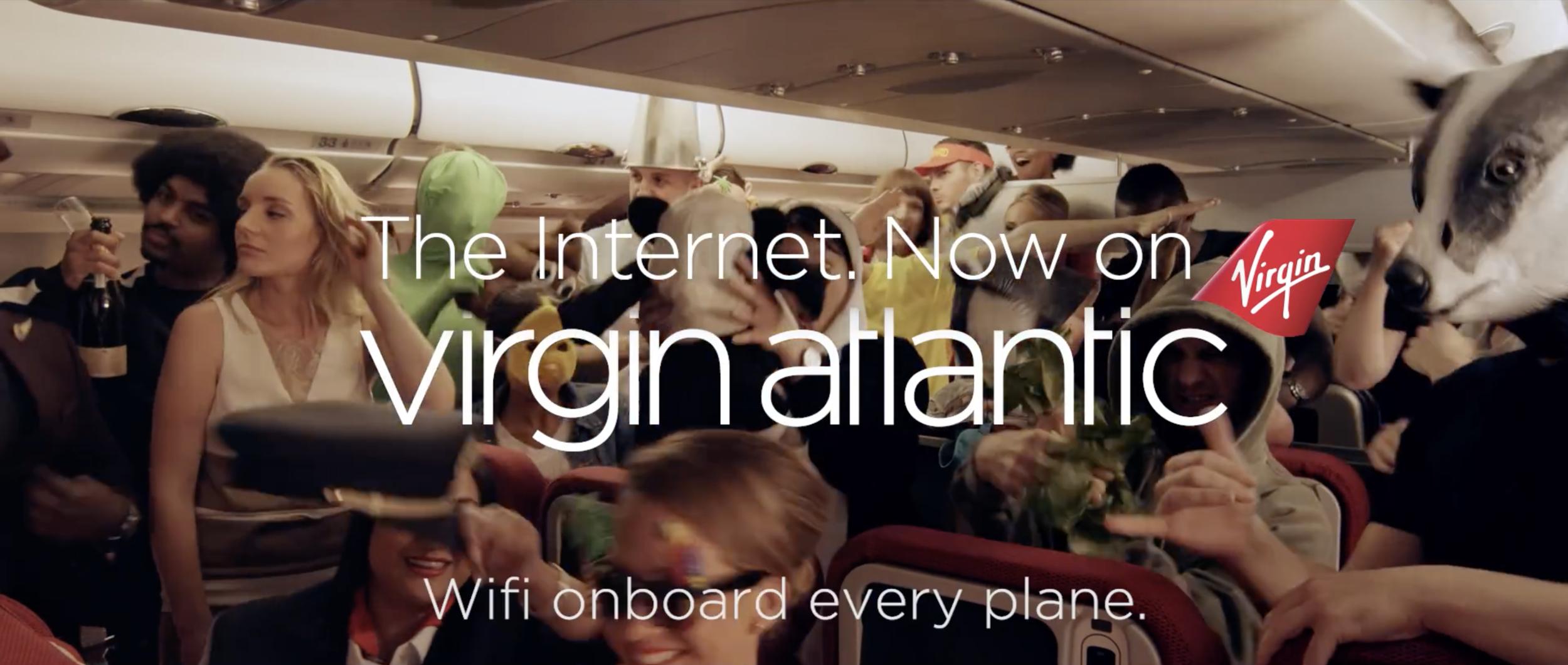virgin atlantic //  wifi onboard    steadicam operator   Director - jamie m ffinch dop - ed wright