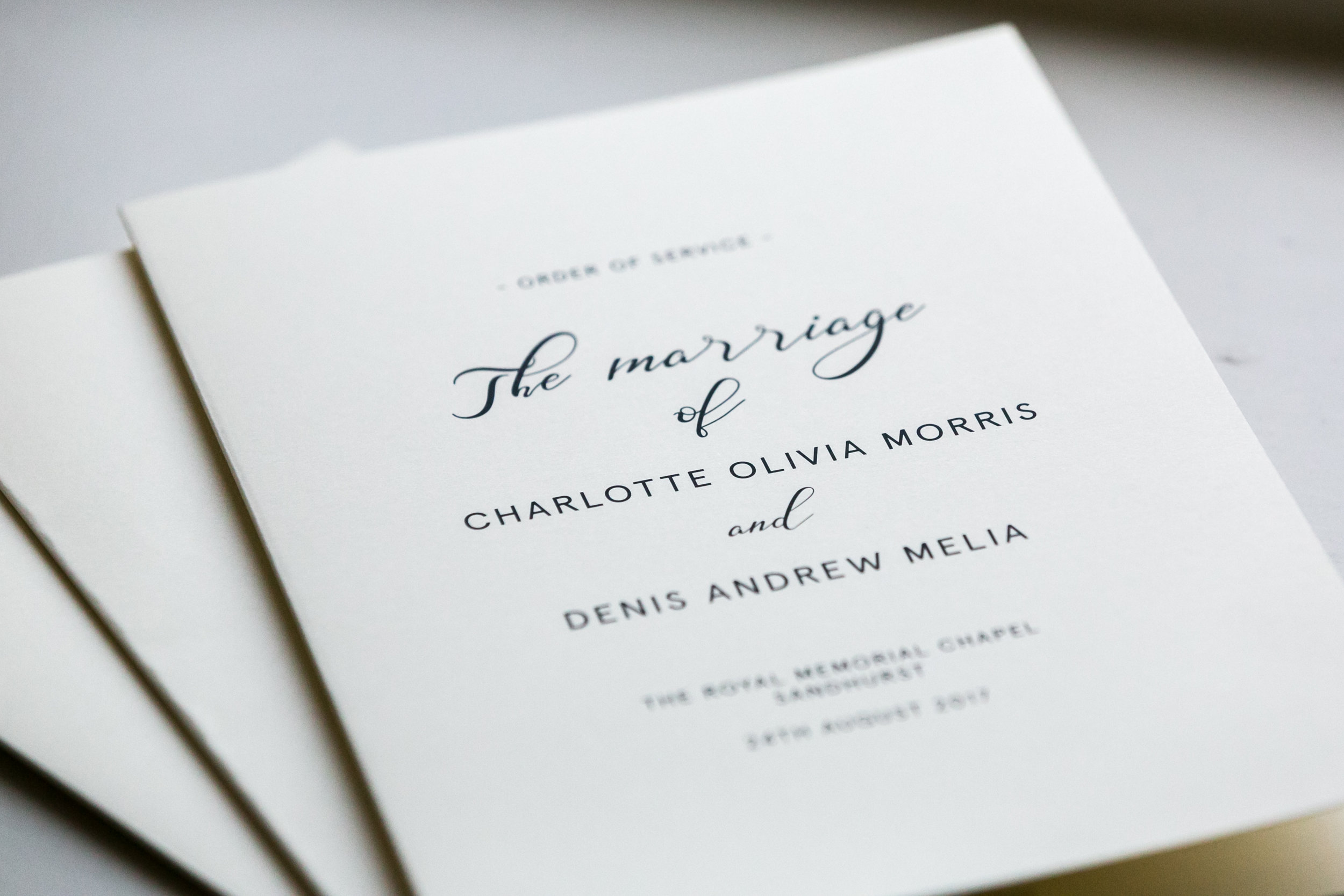 Charlotte & Denis Wedding Stationary