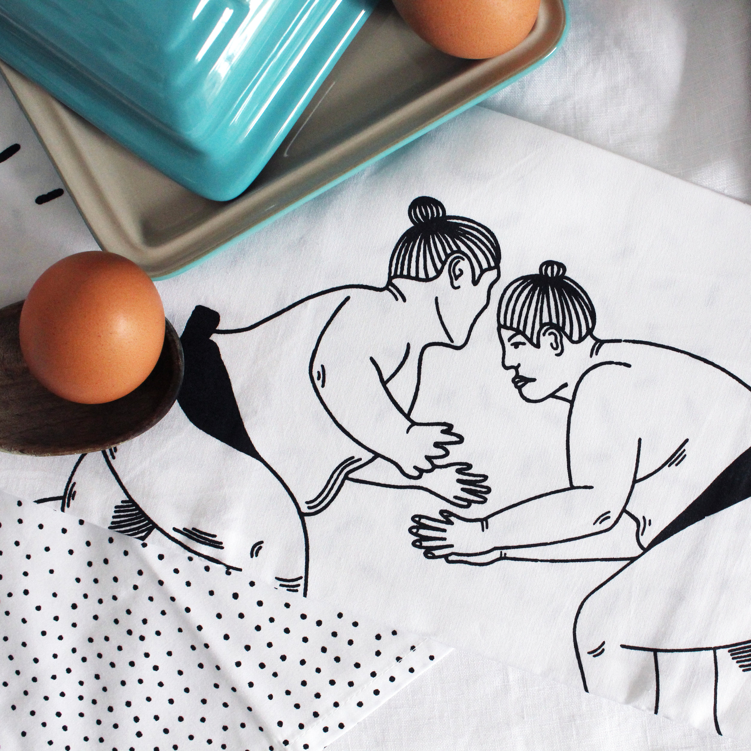 Postcards Home - Sumo Tea Towels