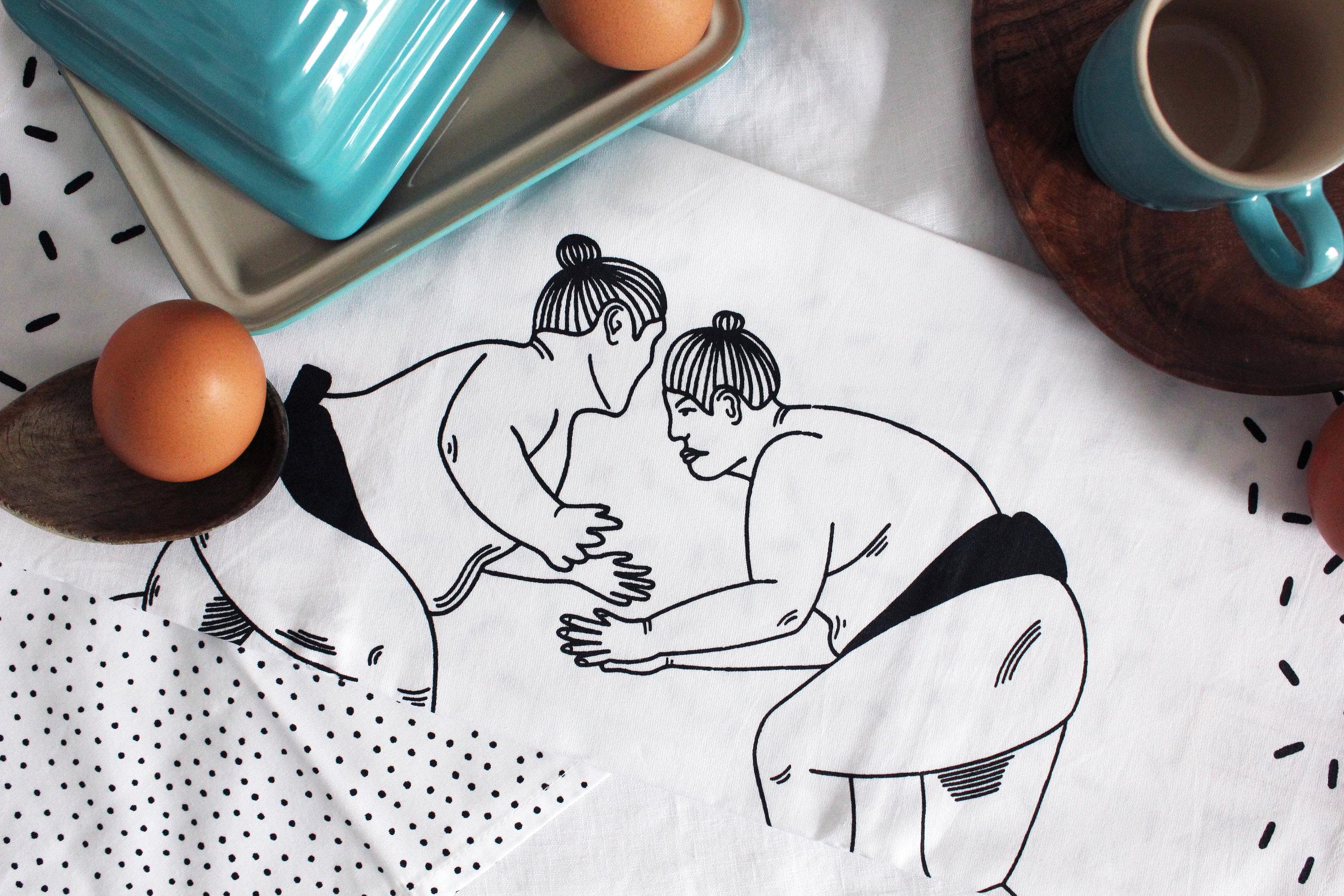 Sumo Tea Towel 23 Postcards Home Callie Pettigrew.jpg