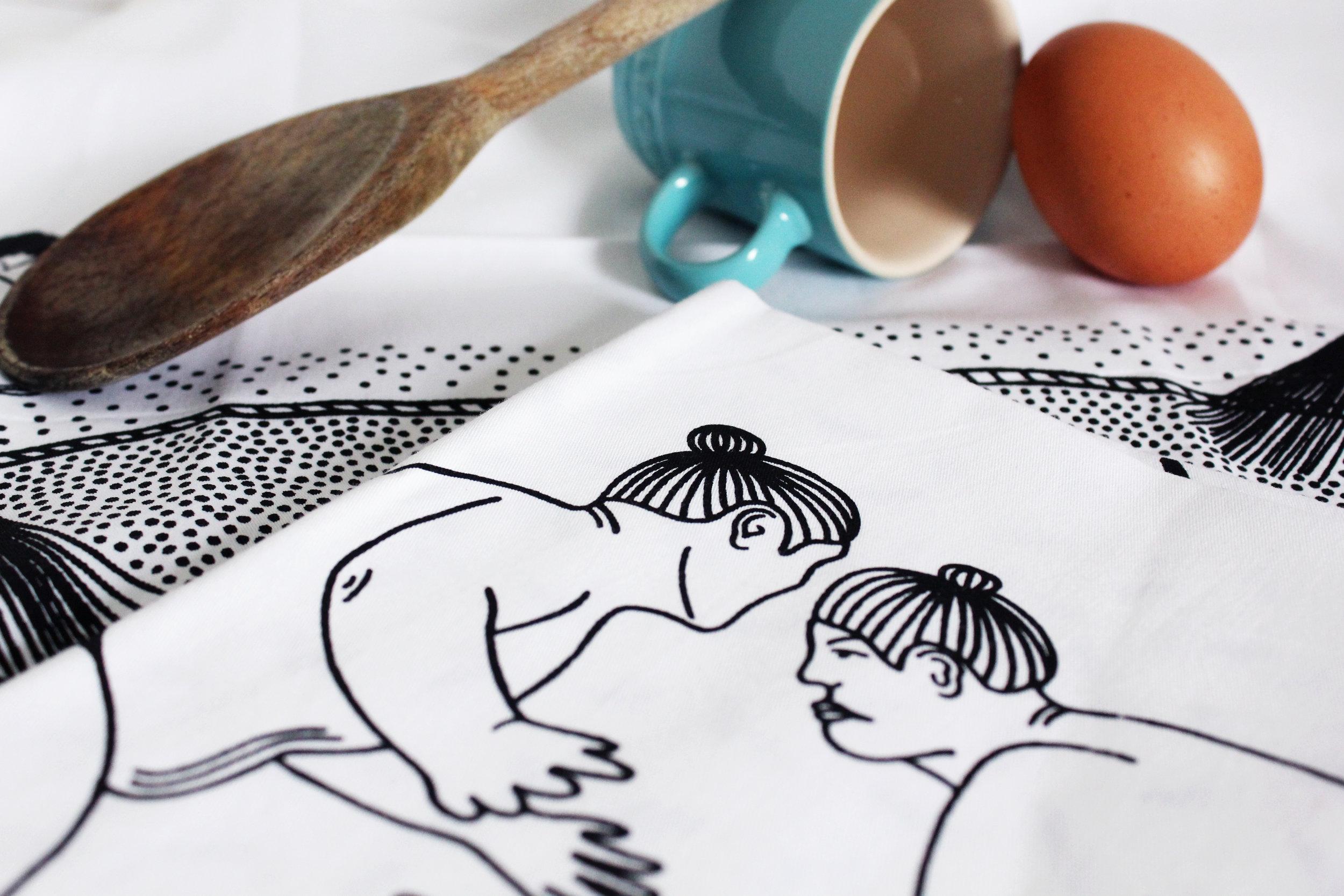 Sumo Tea Towel 19 Postcards Home Callie Pettigrew.jpg
