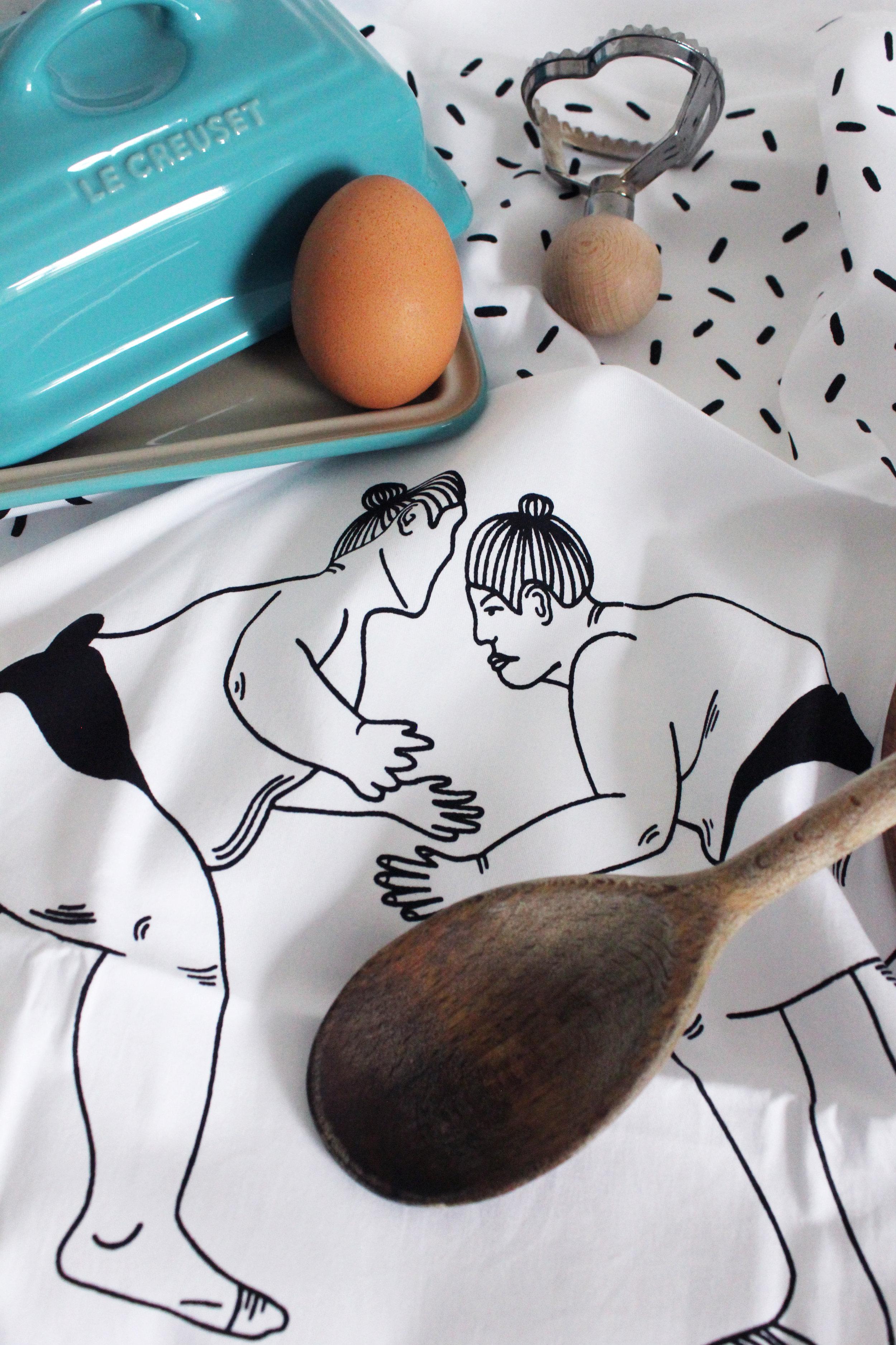 Sumo Tea Towel 32 Postcards Home Callie Pettigrew.jpg