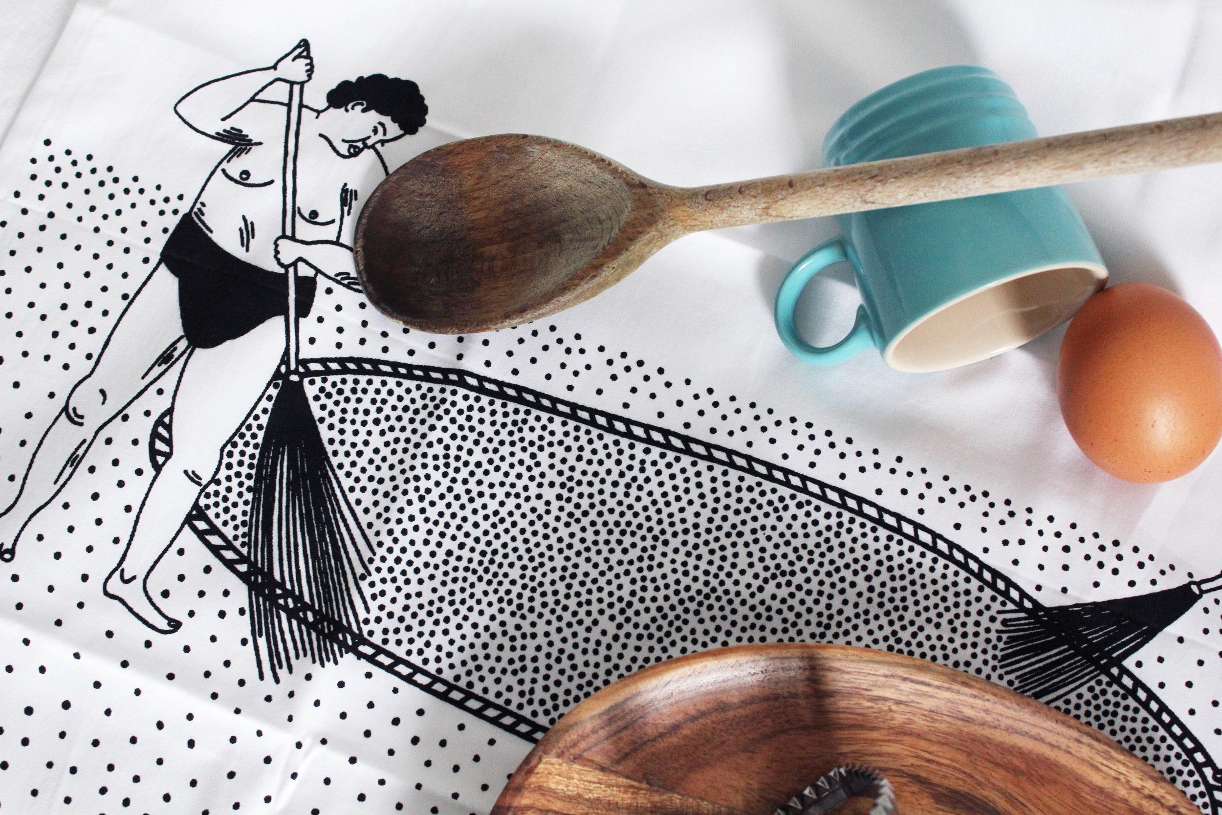 Sumo Tea Towel 16 Postcards Home Callie Pettigew.jpg
