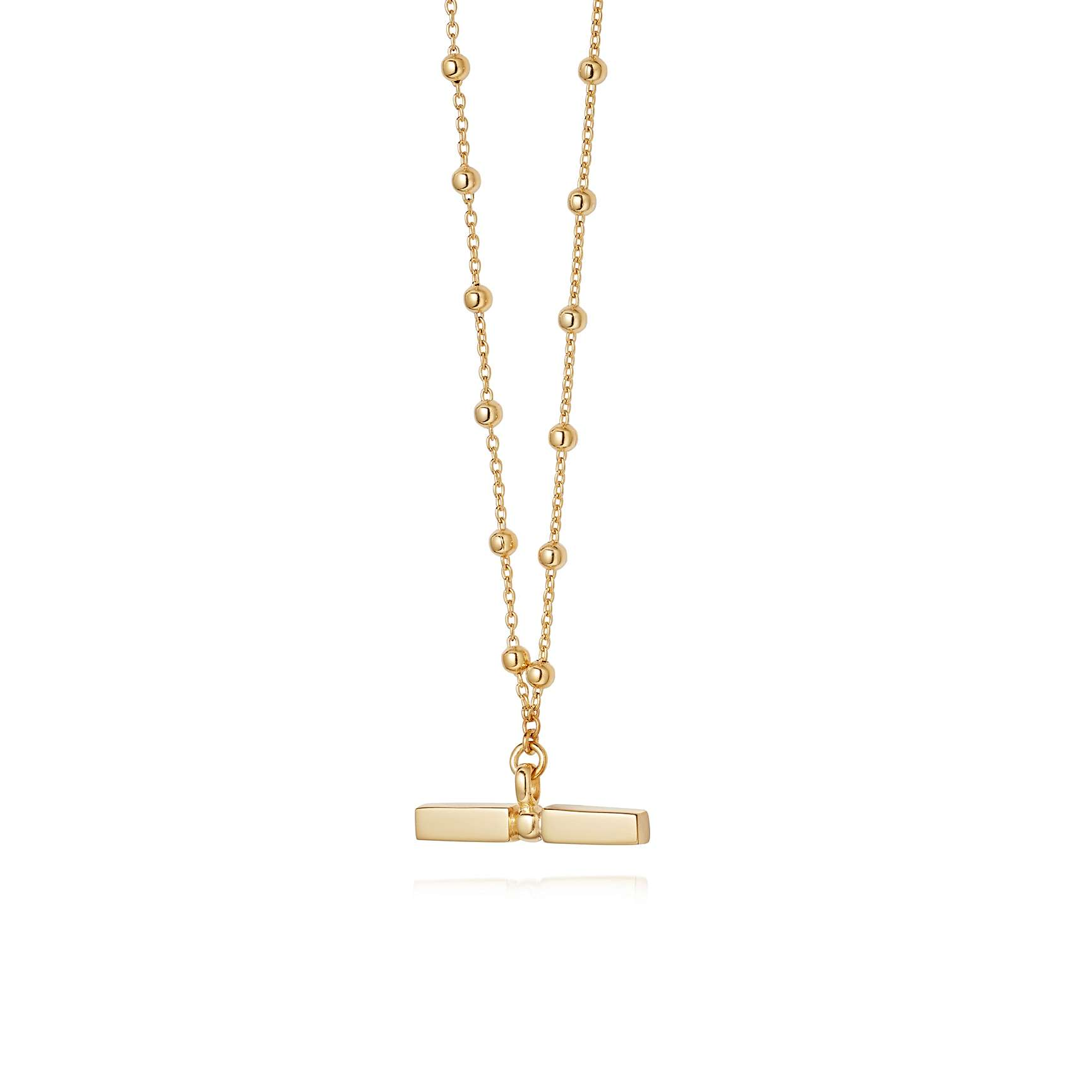 DAISY JEWELLERY STACKED T BAR NECKLACE - I have this one in silver, but the gold is beautiful too.