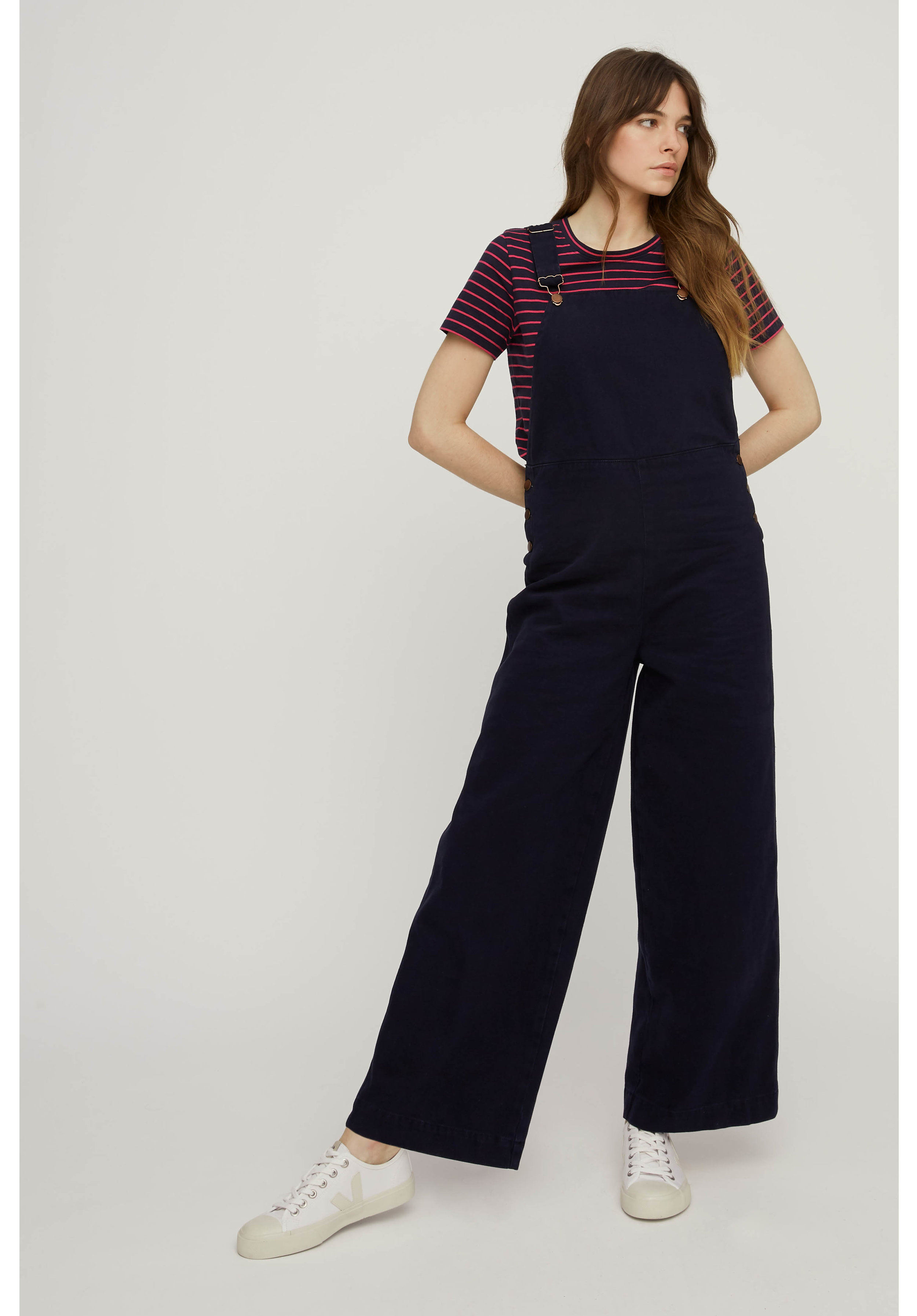 PEOPLE TREE COCO TWILL DUNGAREES -