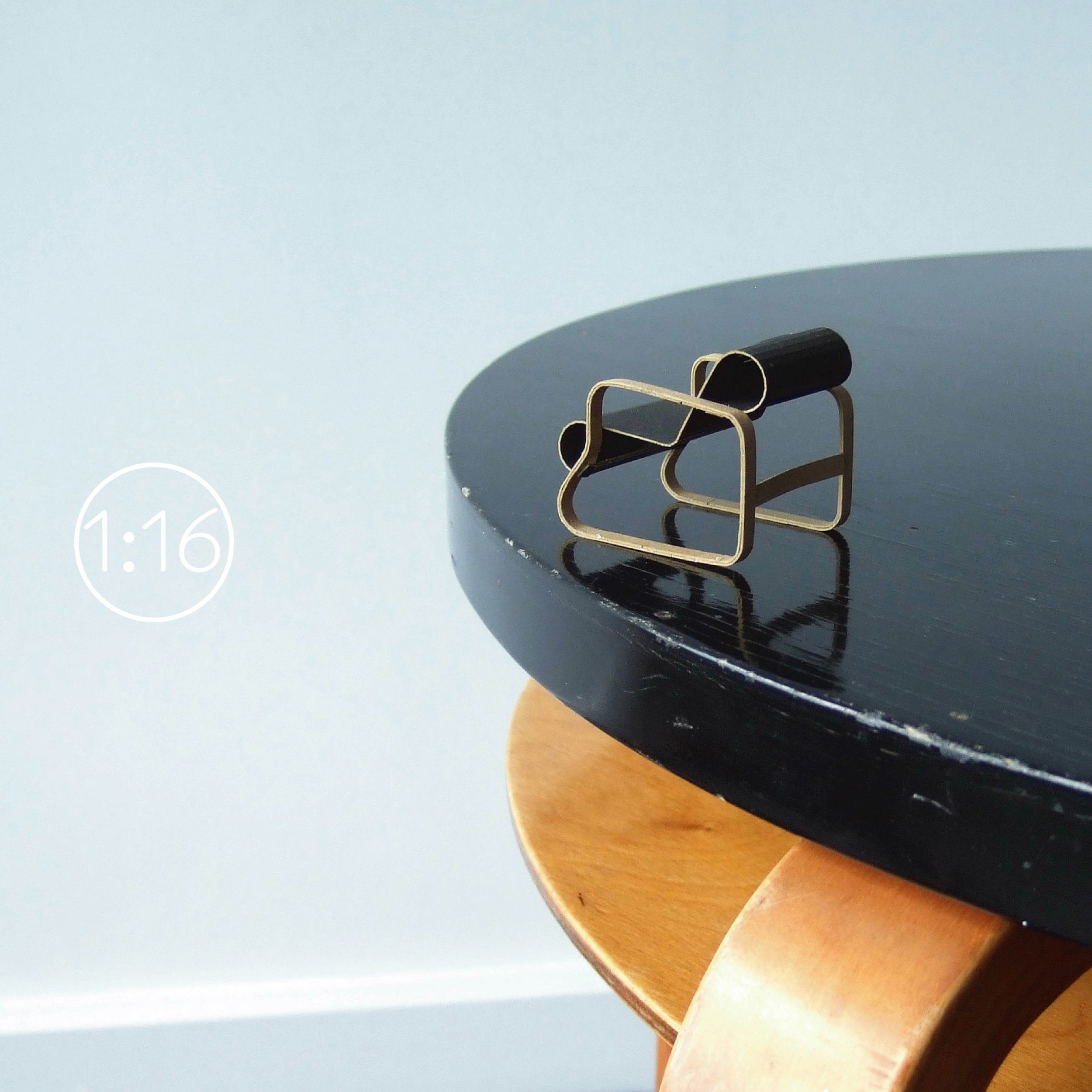 008 Paimio chair (Arnchair 41)  - discover more 1:16 paper model kits in our shop!