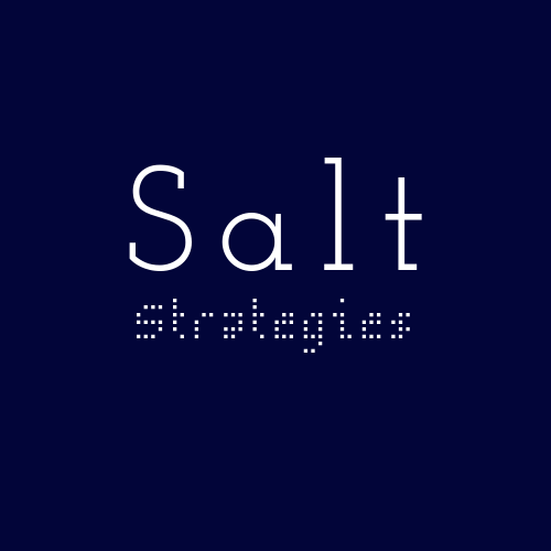 SALT STRATEGIES LAUNCHES Q1 2020.     JOIN SALT'S PILOT PROGRAMME; CLICK TO  FIND OUT MORE .