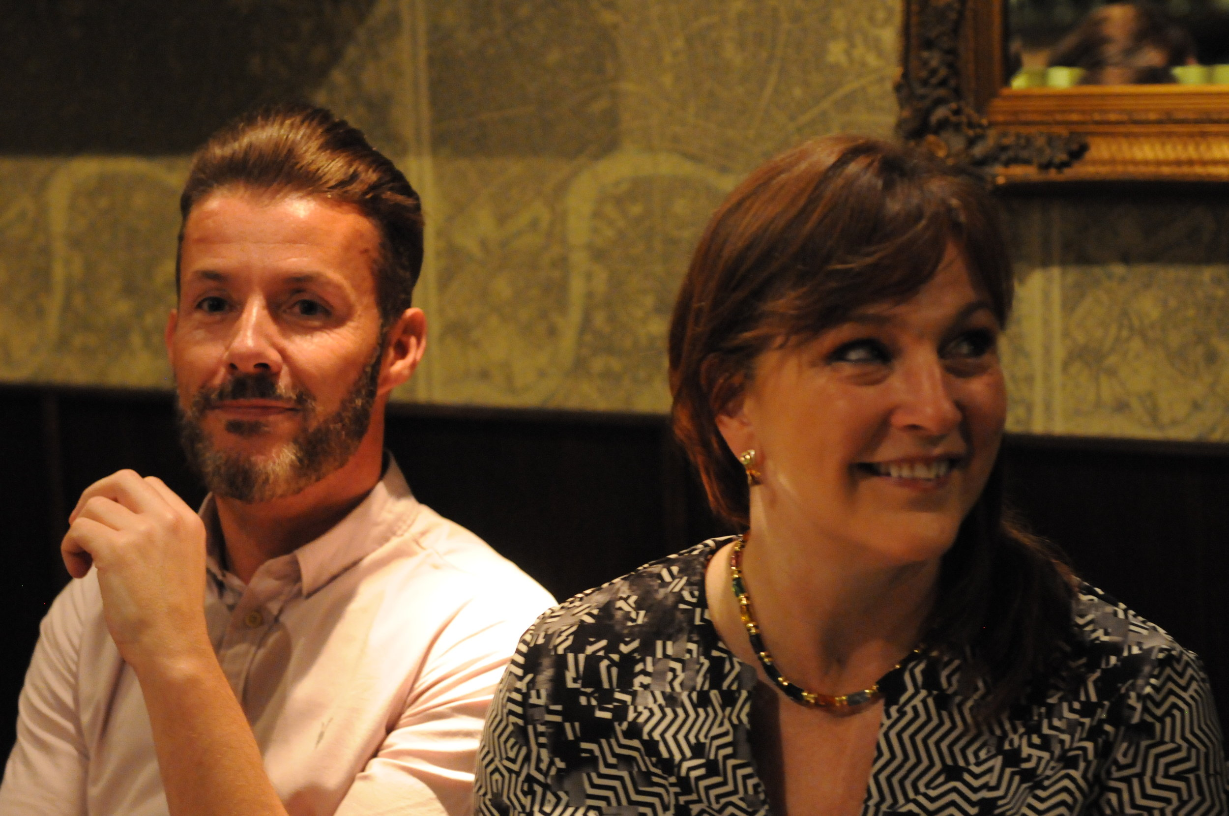 Dean Hunter and Gretchen Haskins at the Chapters Dinner.JPG