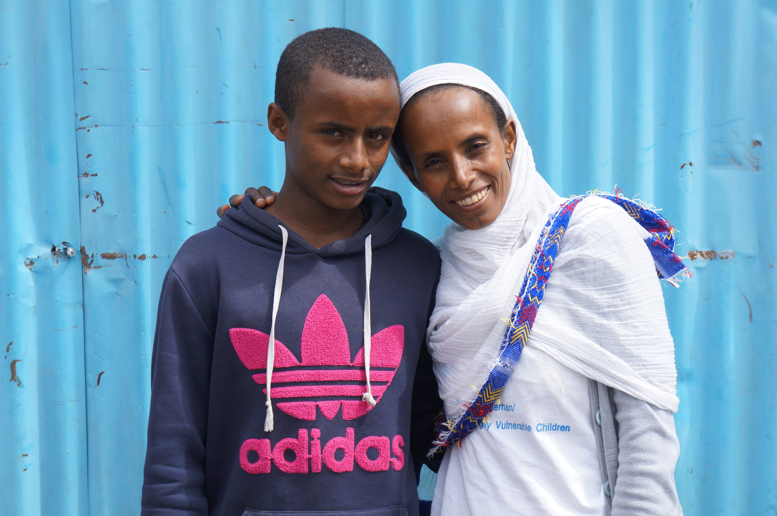 This is Yetemwork and her son Mikey. Being in savings groups and being able to save up and take loans, has made her able to start her own business, and inspire her children to do the same.  Read her fascinating story here.
