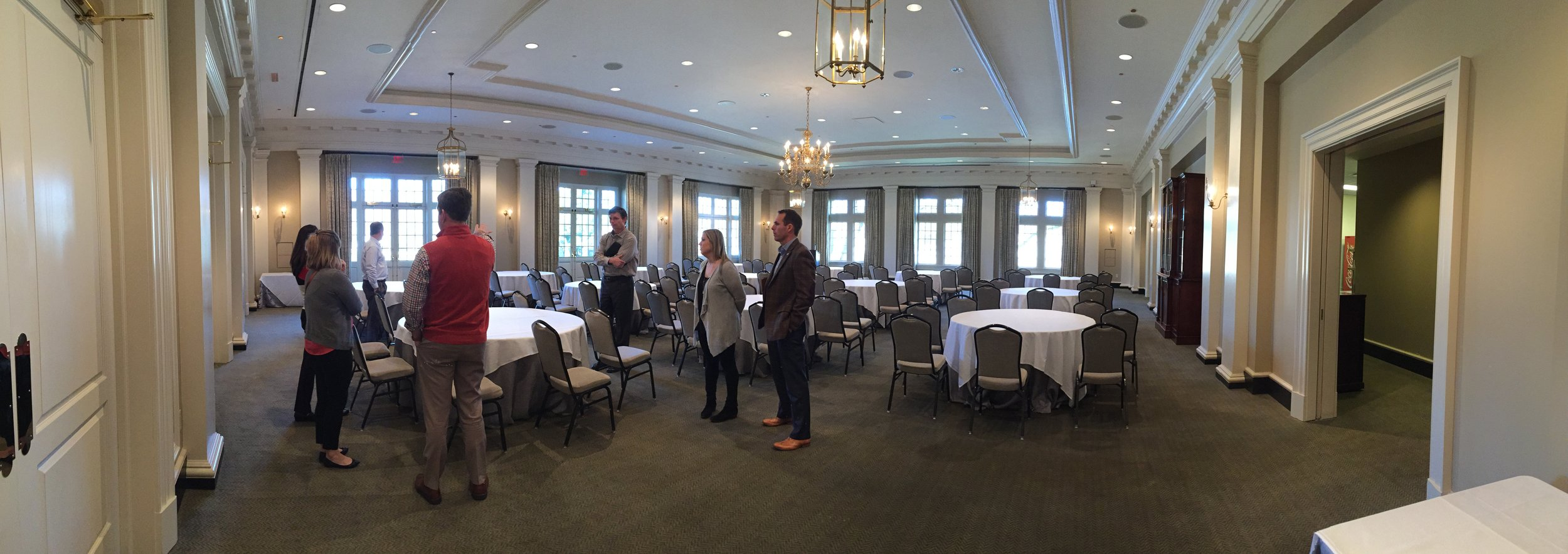 THIS IMAGE IS OF THE EMPTY BALLROOM