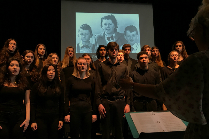 "- North Toronto Collegiate Institute's choir sings Hannah Senesh's ""Eli, Eli"" at the launch of Liberation 75 in Toronto on May 2. (CANADIAN JEWISH NEWS)"