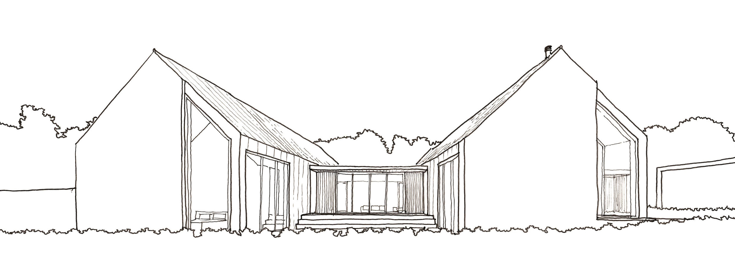 Sketch view of courtyard