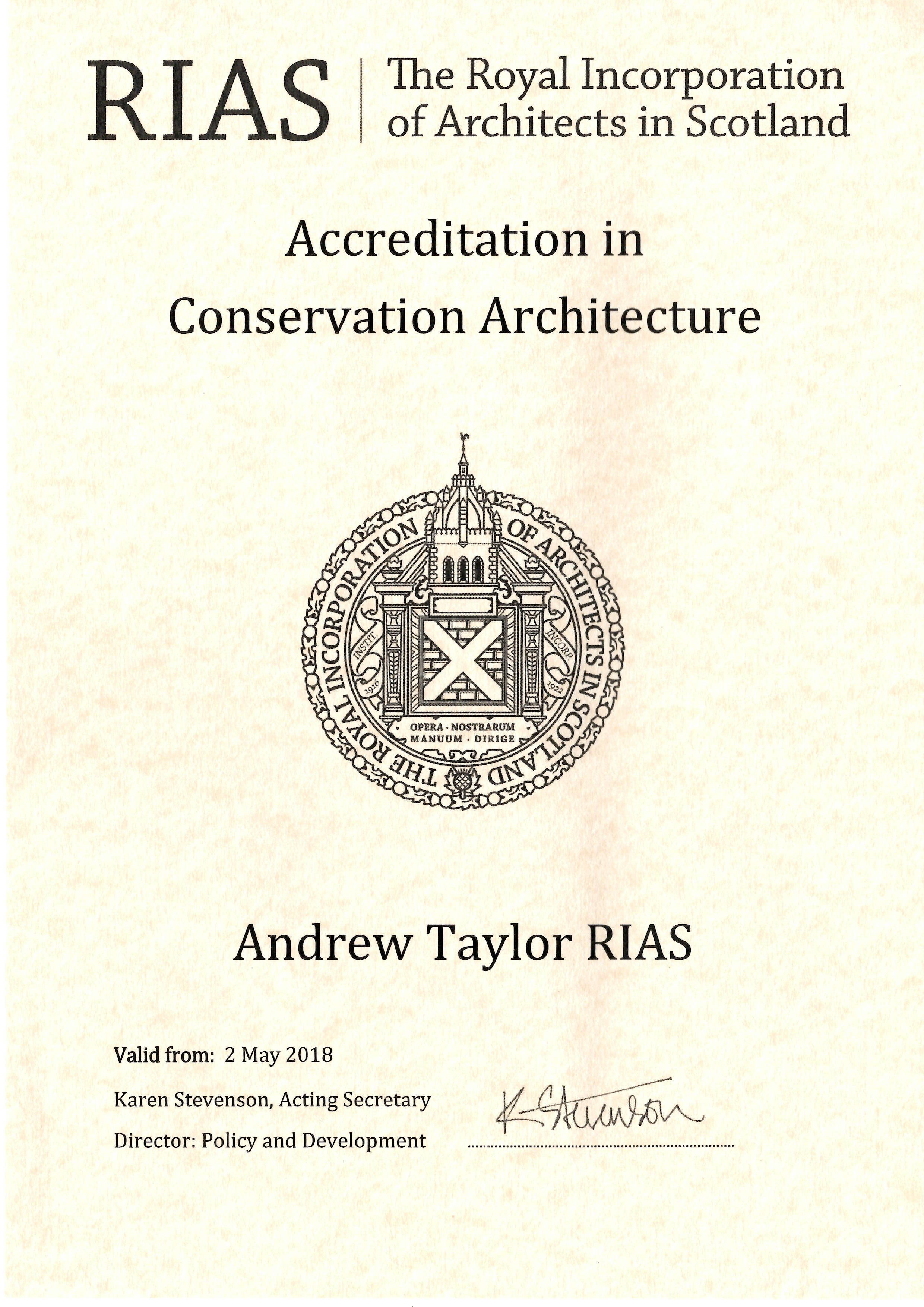 2018 Conservation Accreditation Certificate.jpg