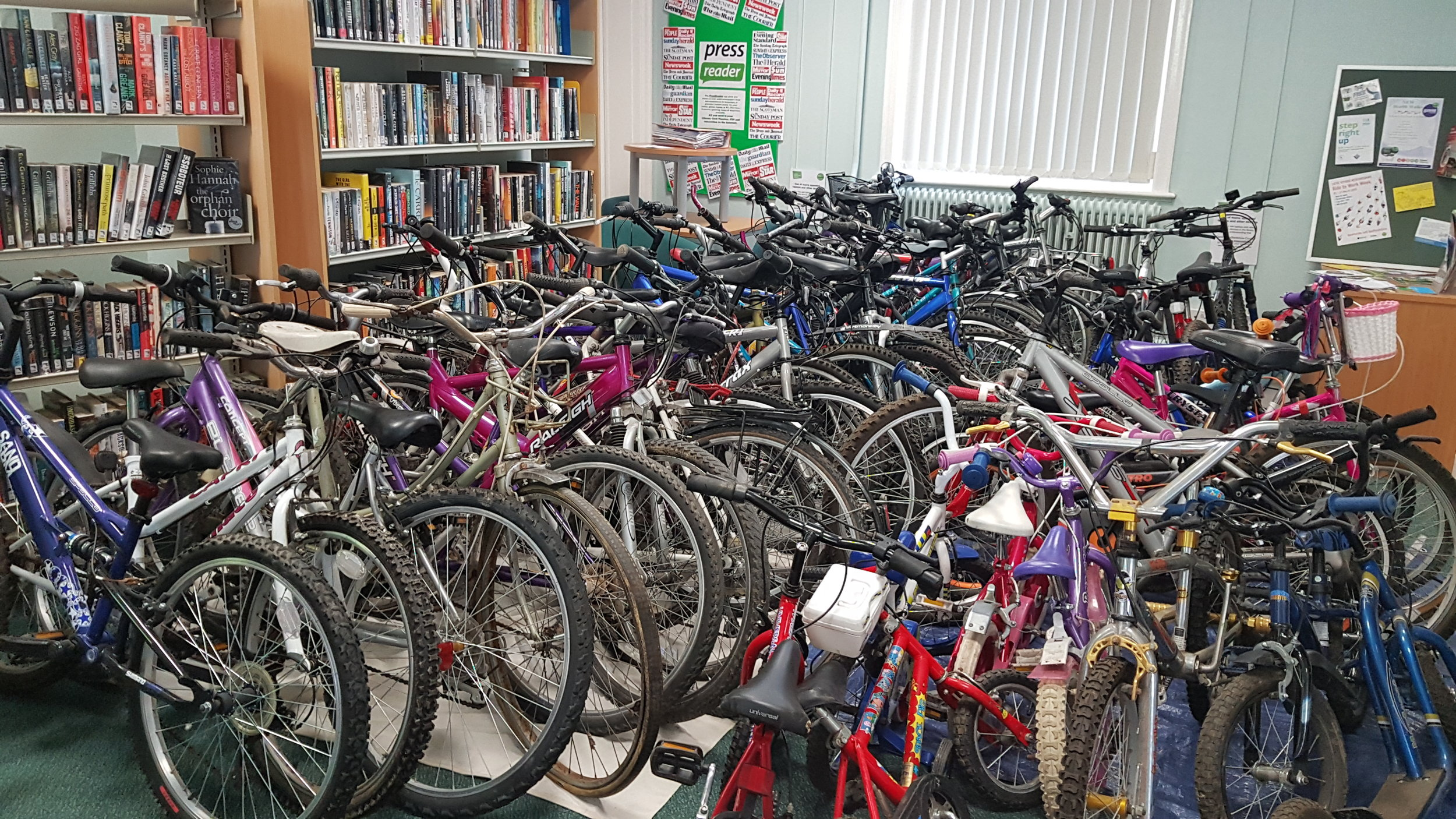 Recycled Bikes in Ampthill Library1.jpg