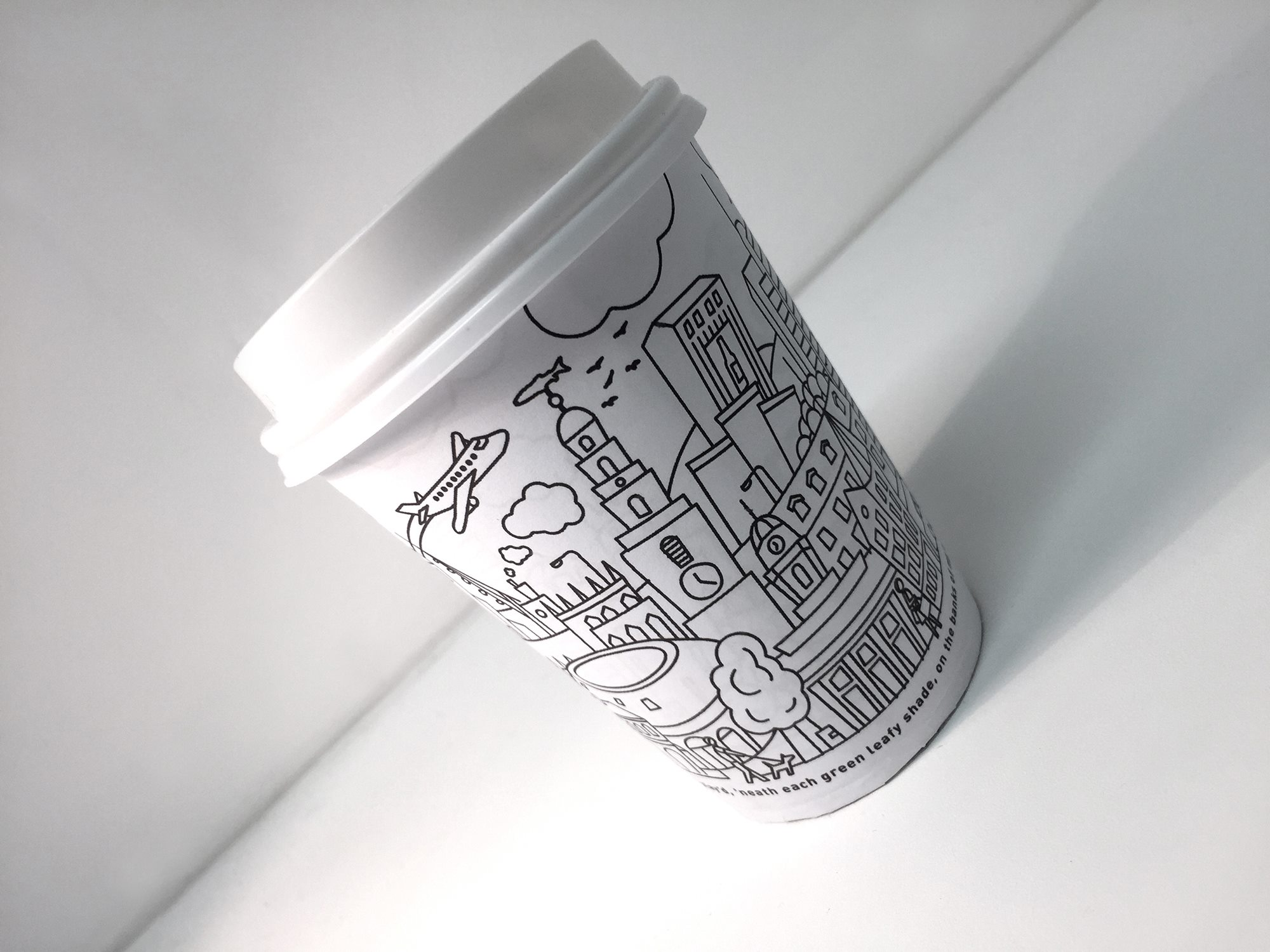 Coffee cup illustration  - Perry Street Market Cafe