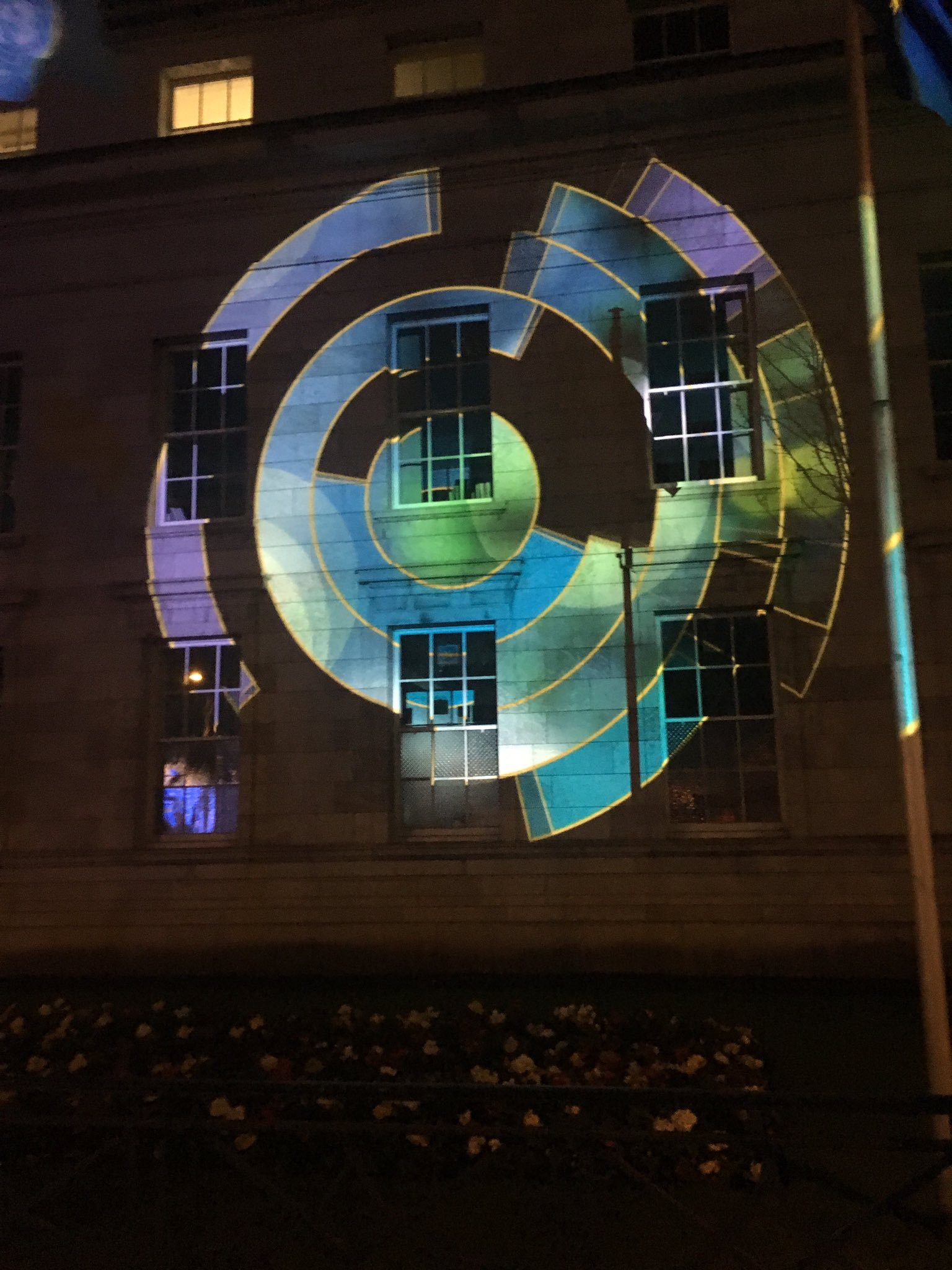 Animated graphic projection  - Cork City Hall