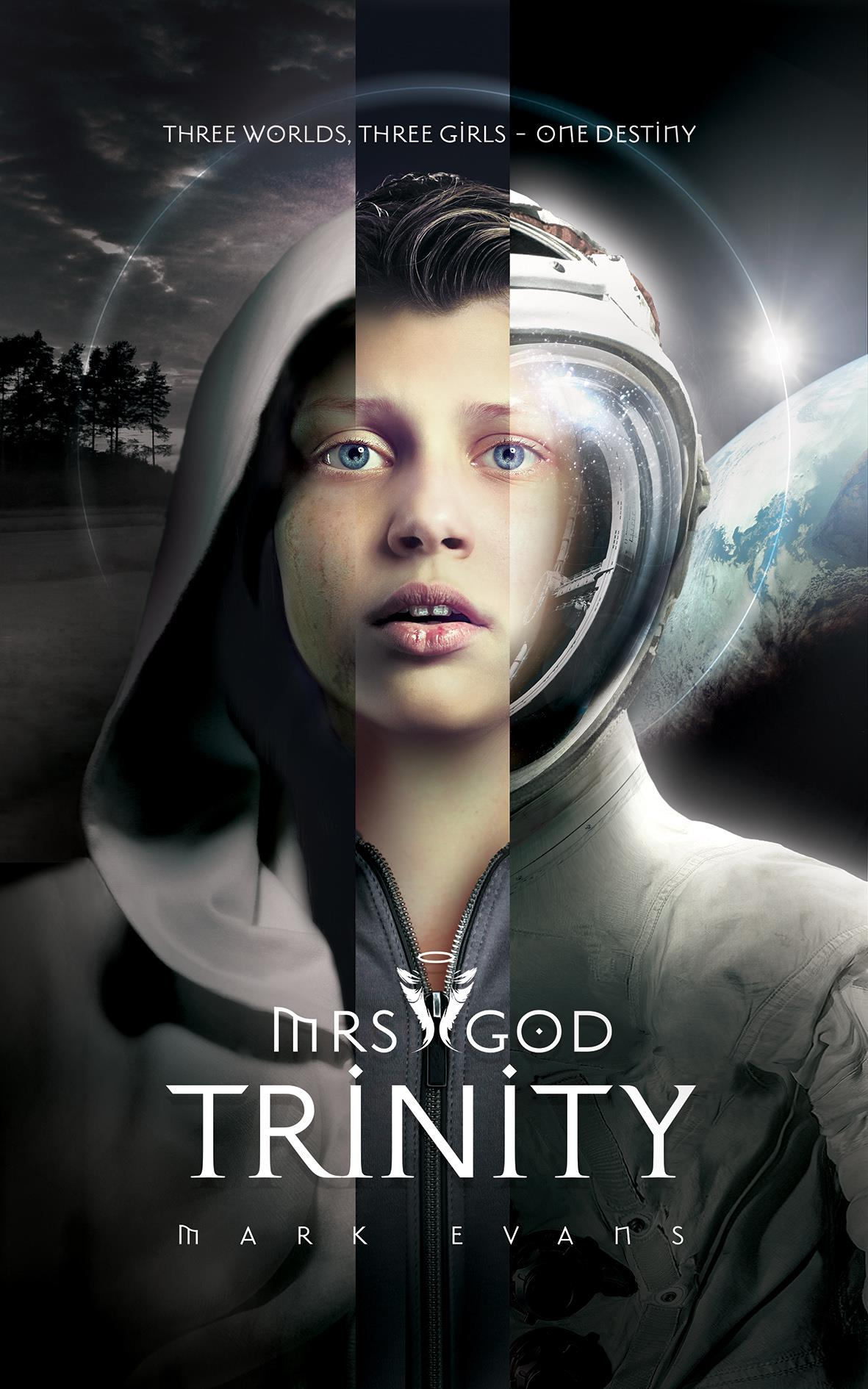 Mrs God Trinity Book Cover design  - Mark Evans