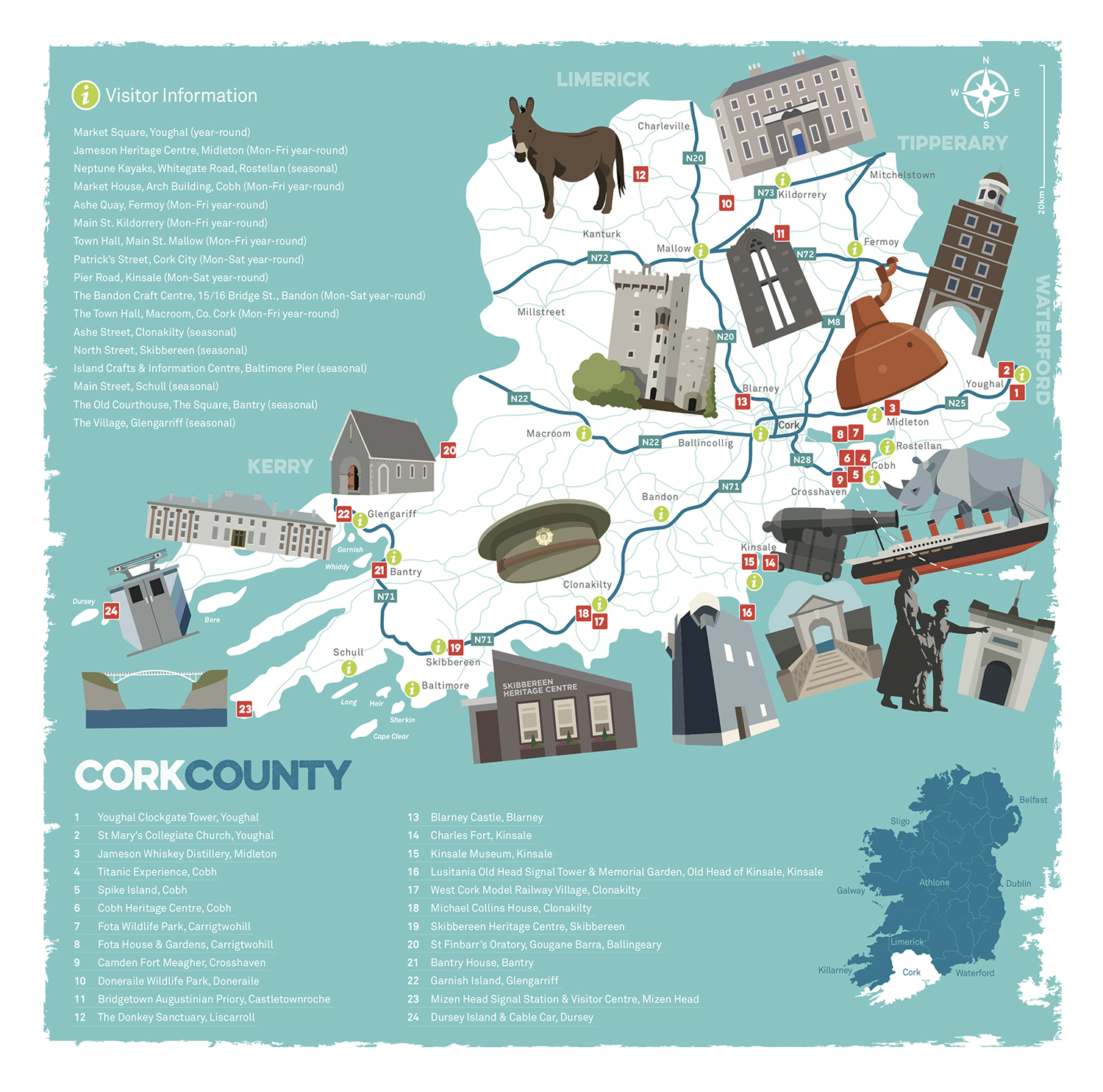 Map illustration and layout  - Pure Cork