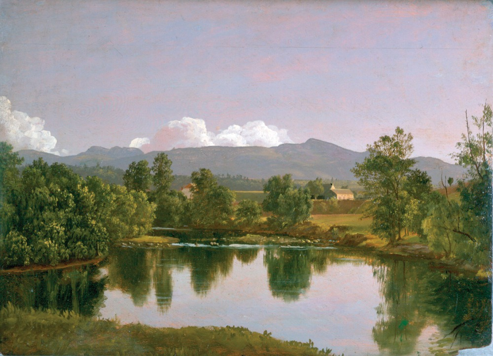 "Frederic Edwin Church, ""The Catskill Creek,"" (ca. July-August 1845), oil on panel, 11 7/8 x 16 in.Collection Olana State Historic Site, NYS OPRHP."