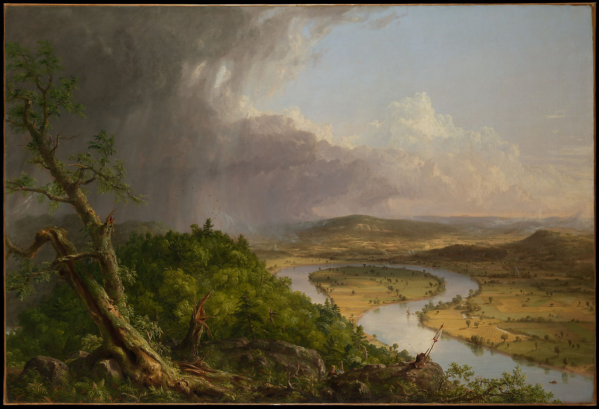 "Thomas Cole, ""View from Mount Holyoke, Northampton, Massachusetts, after a Thunderstorm—The Oxbow,"" 1836, The Metropolitan Museum of Art, Gift of Mrs. Russell Sage, 1908."