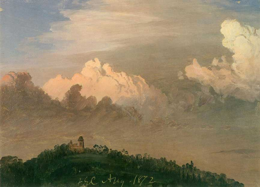 Frederic Church,  Clouds Over Olana , 1872, Collection Olana State Histroic Site, NYS OPRHP