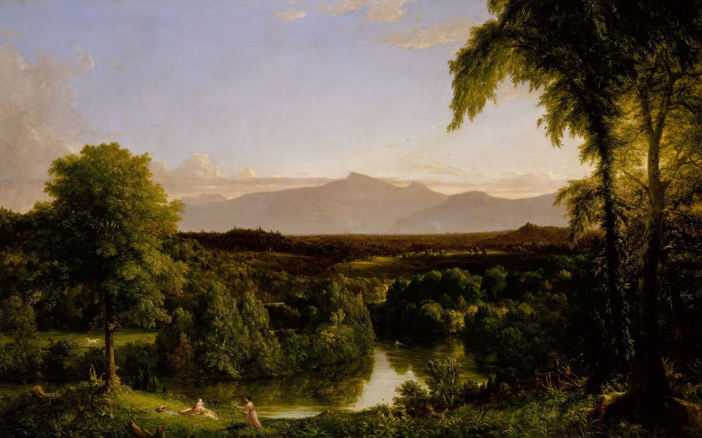 Thomas Cole,  View on Catskill Creek - Early Autumn , 1836-7, The Metropolitan Museum of Art