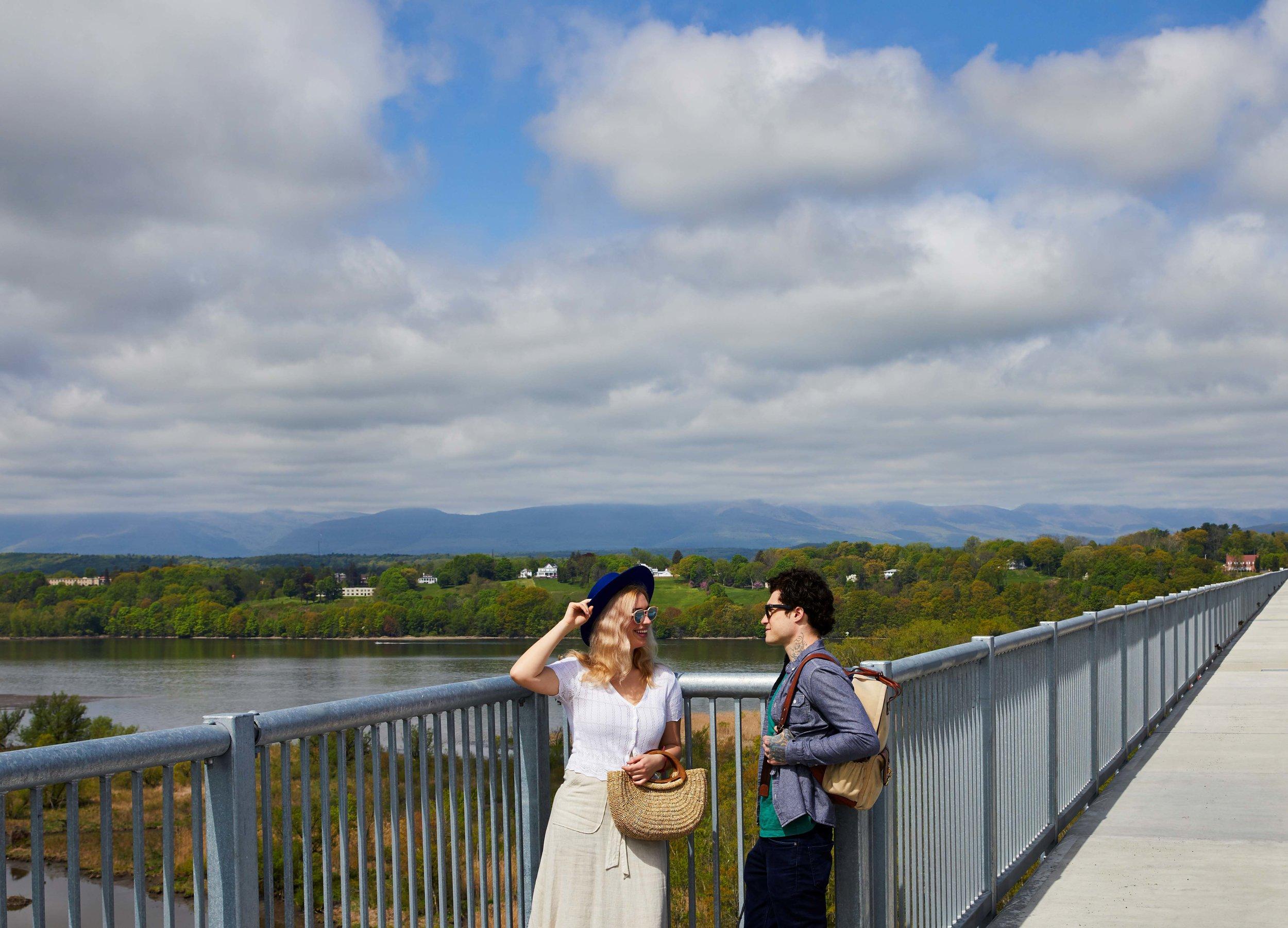 Hudson River Skywalk at the Rip Van Winkle Bridge