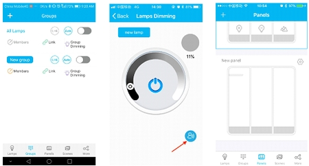 Smart Phone Controls for Managing Lighting