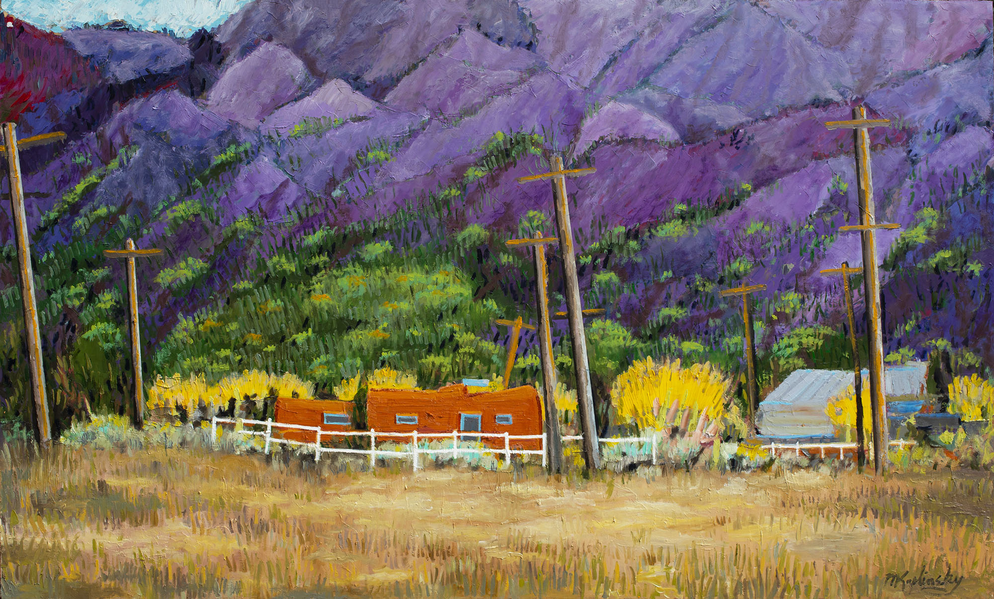 Sunset at Taos Moutain - SOLD