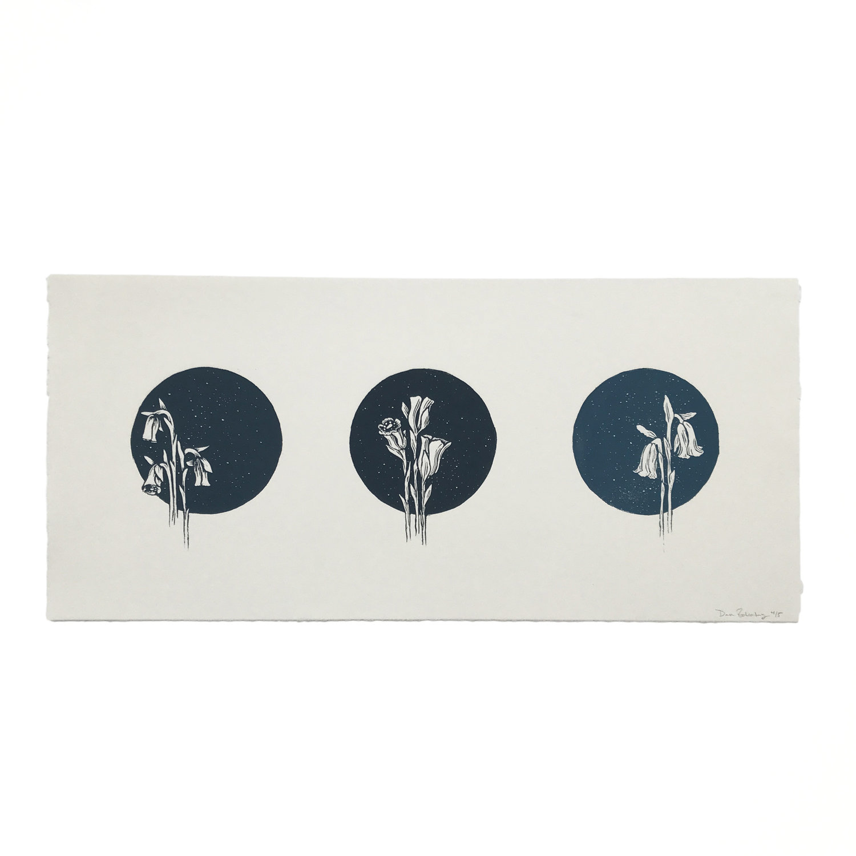 Ghost Flower Triptych - $395