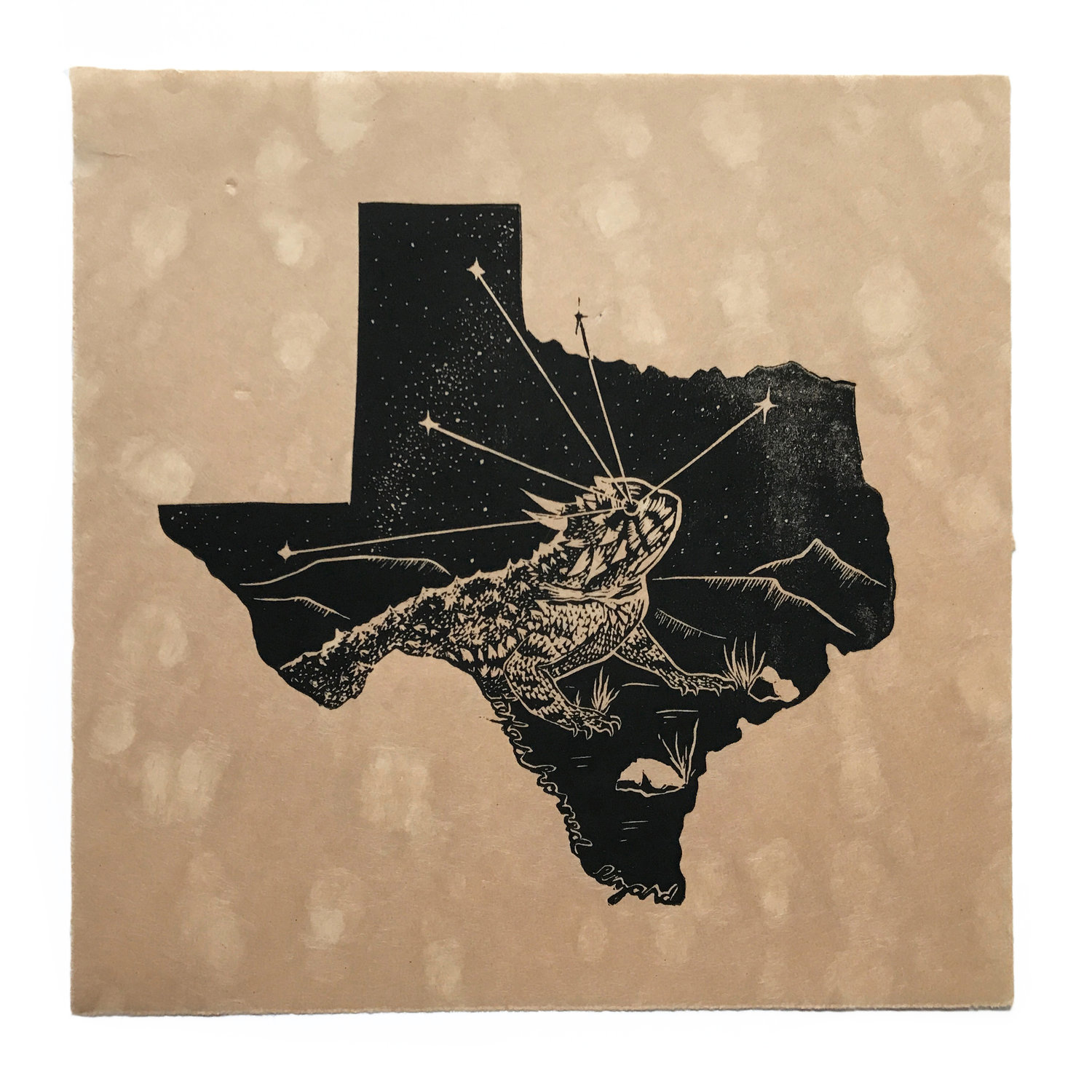 Then Come The Night - Texas Horned Lizard - $200