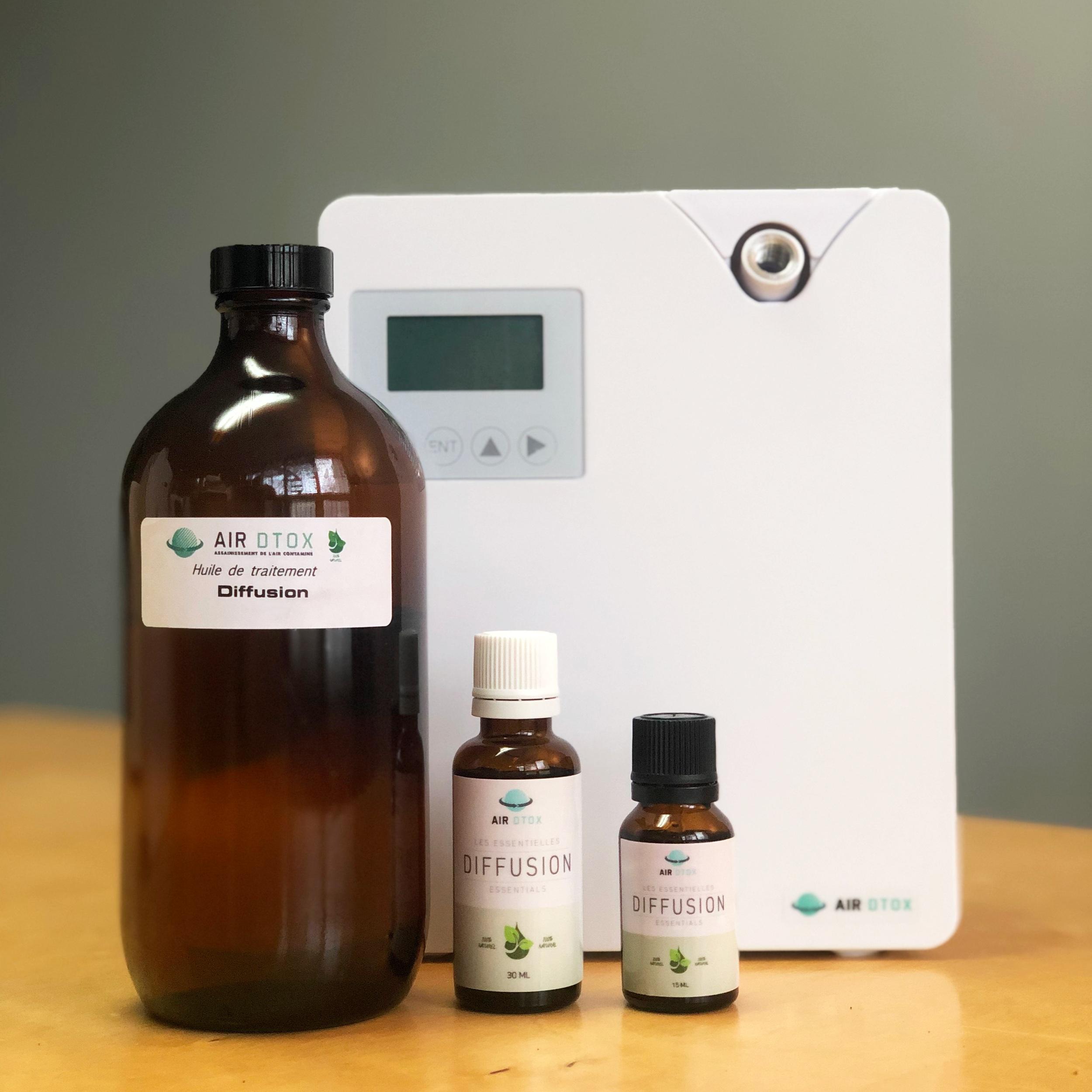 Air DTOX - huiles essentielles et diffuseur