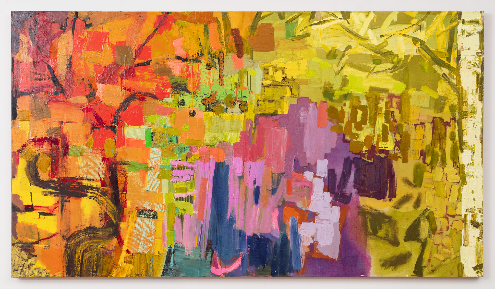 "Tapestry  41 x 72"" oil on linen"