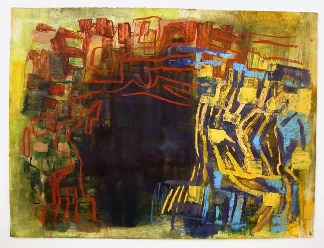 """Cenote  22 x 30"""" acrylic on Fabriano watercolor paper"""